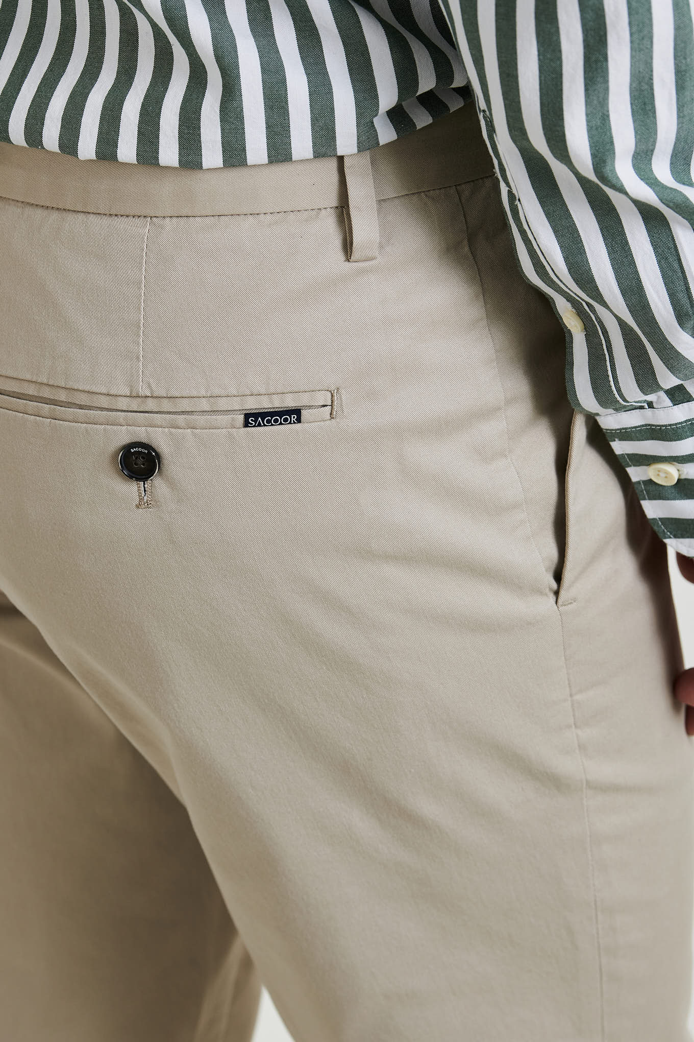 Chino Trousers Beige Casual Man