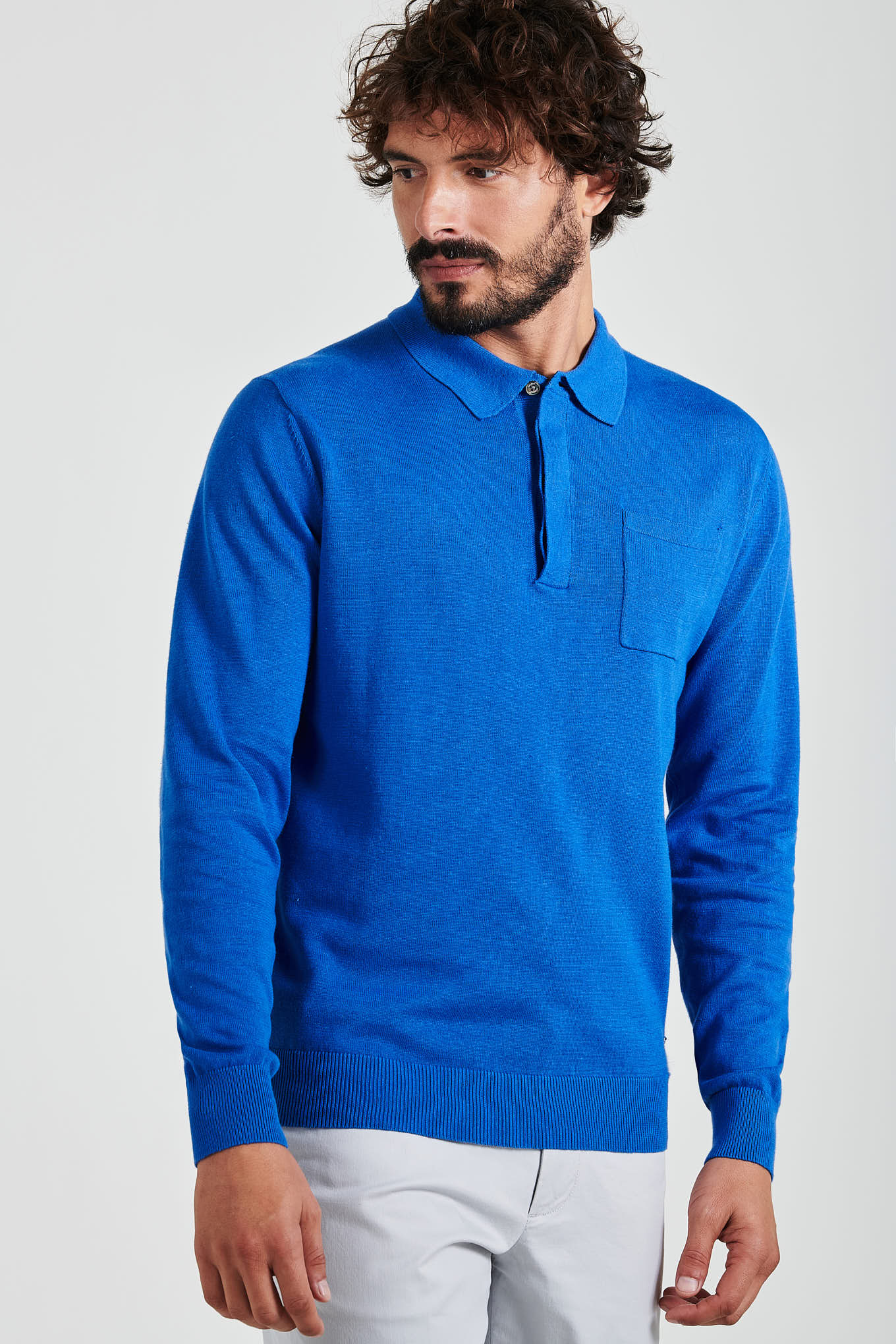 Sweater Medium Blue Casual Man