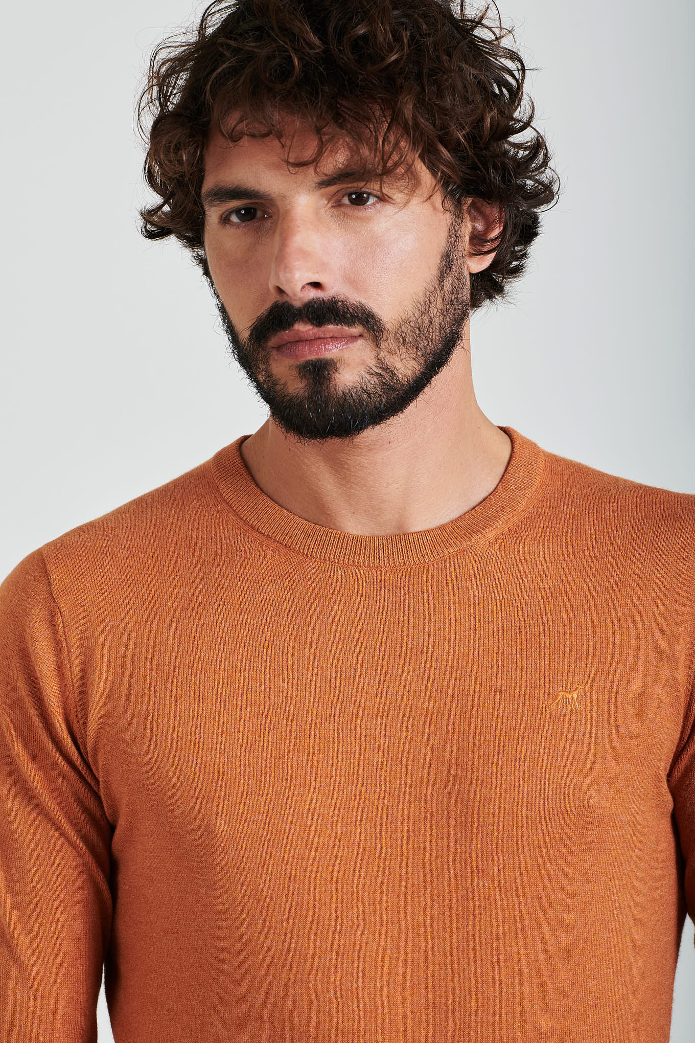 Sweater Cognac Casual Man