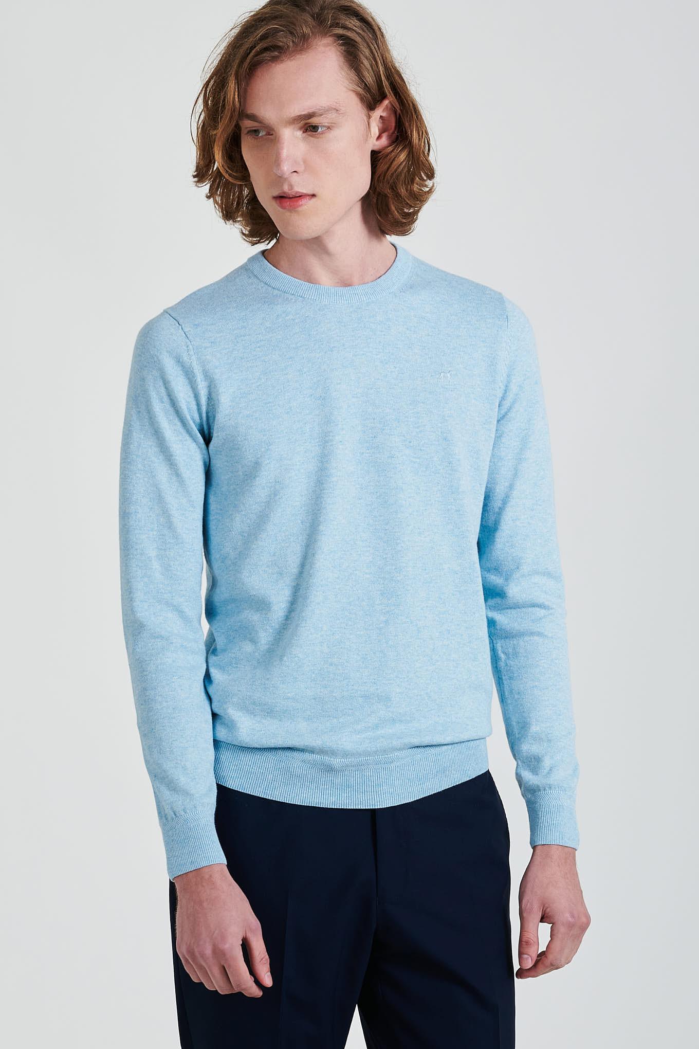 Sweater Light Blue Casual Man