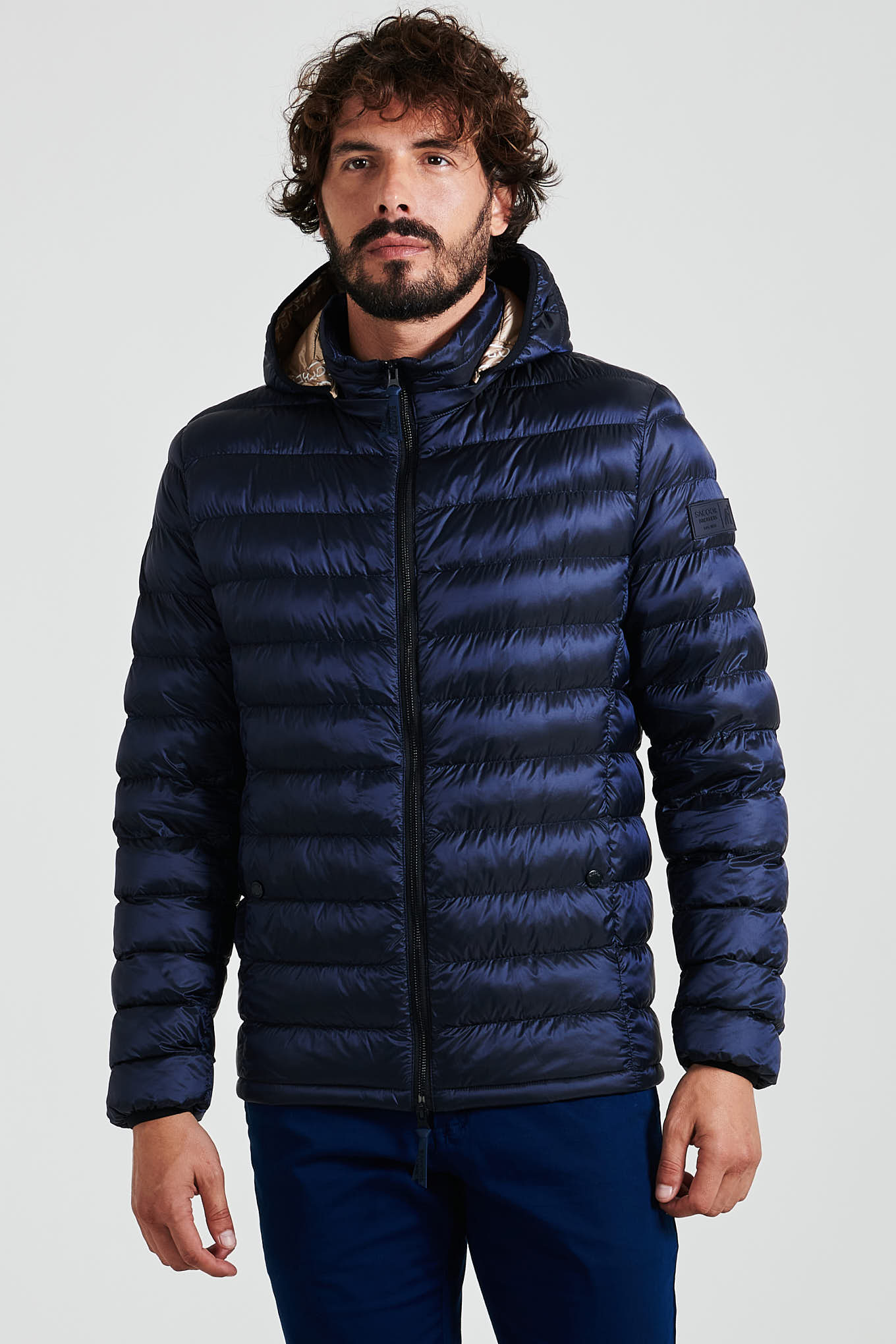 Jacket Dark Blue Casual Man