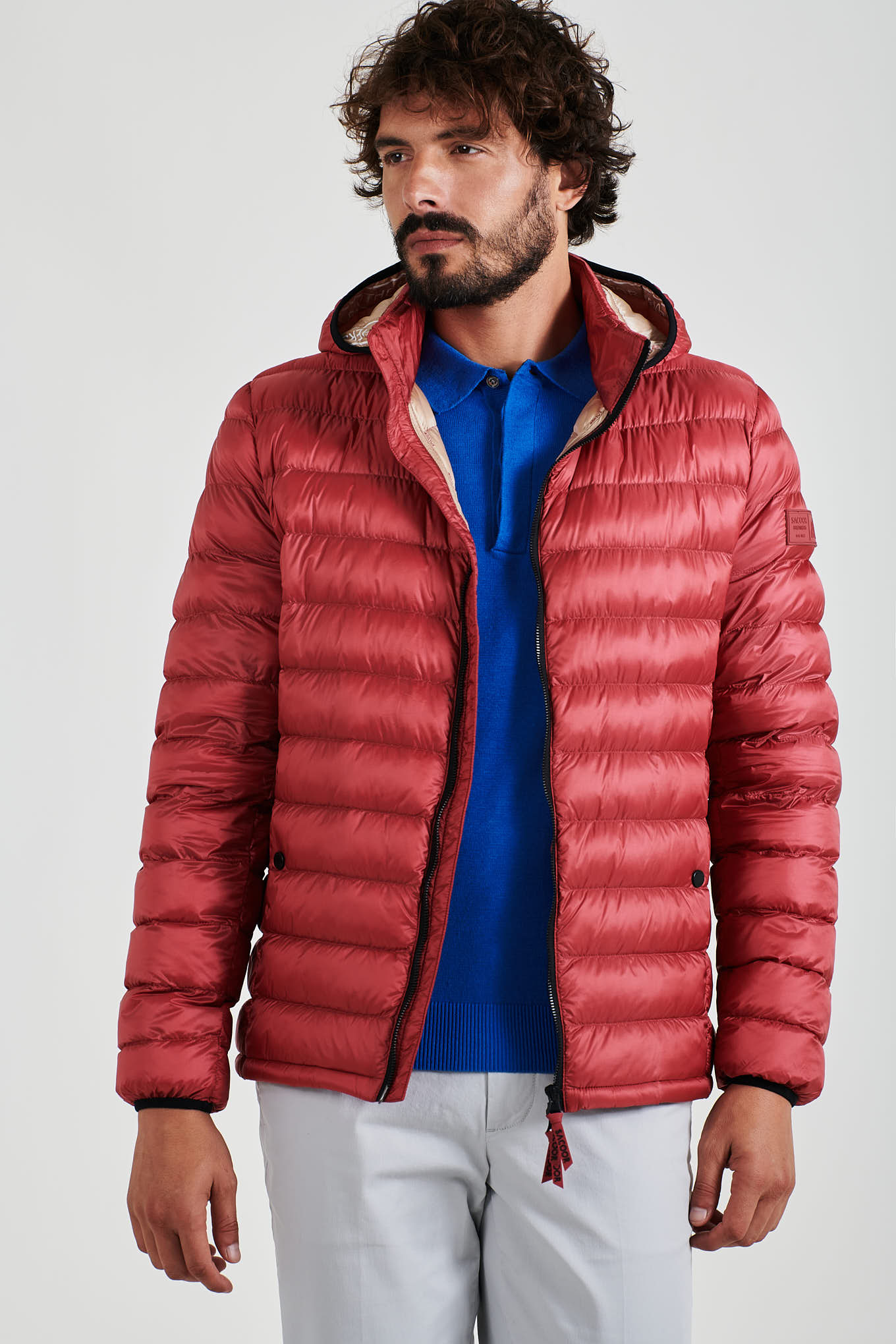 Jacket Light Red Casual Man