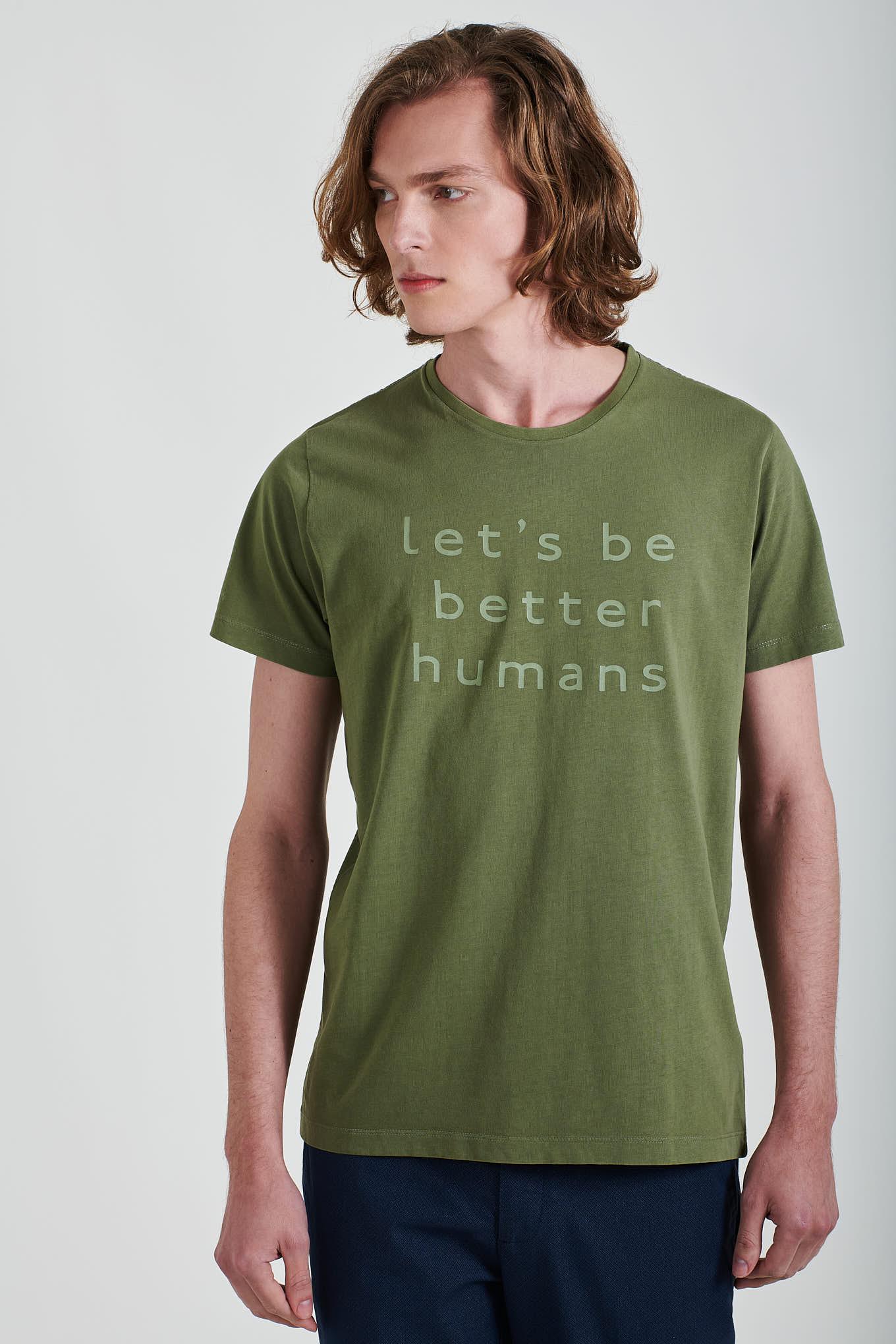 T-Shirt Khaki Sport Homem