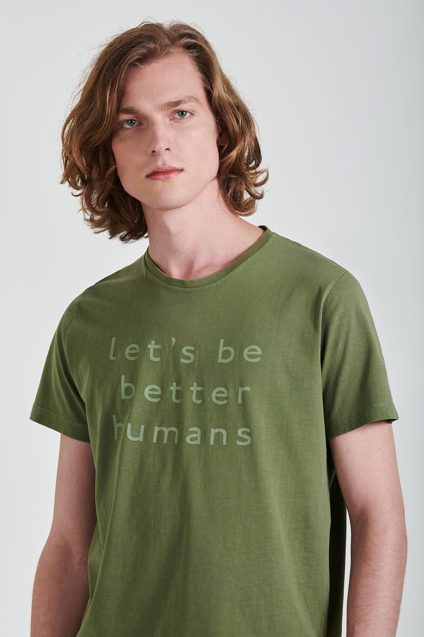 T-Shirt Khaki Sport Man
