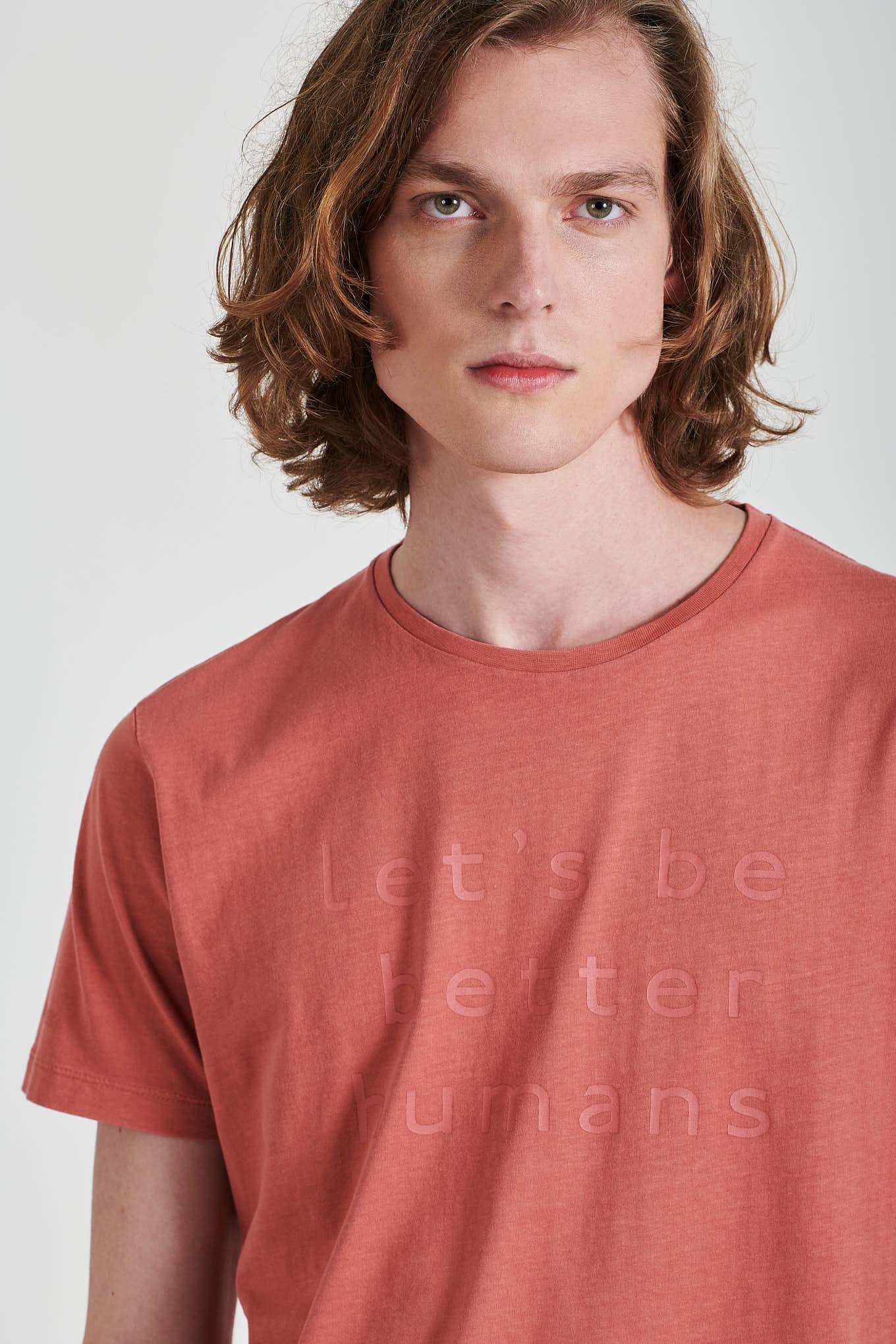 T-Shirt Rosa Sport Homem