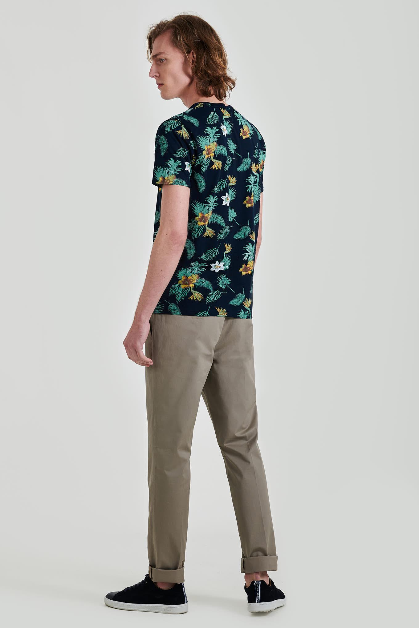 T-Shirt Dark Blue Casual Man