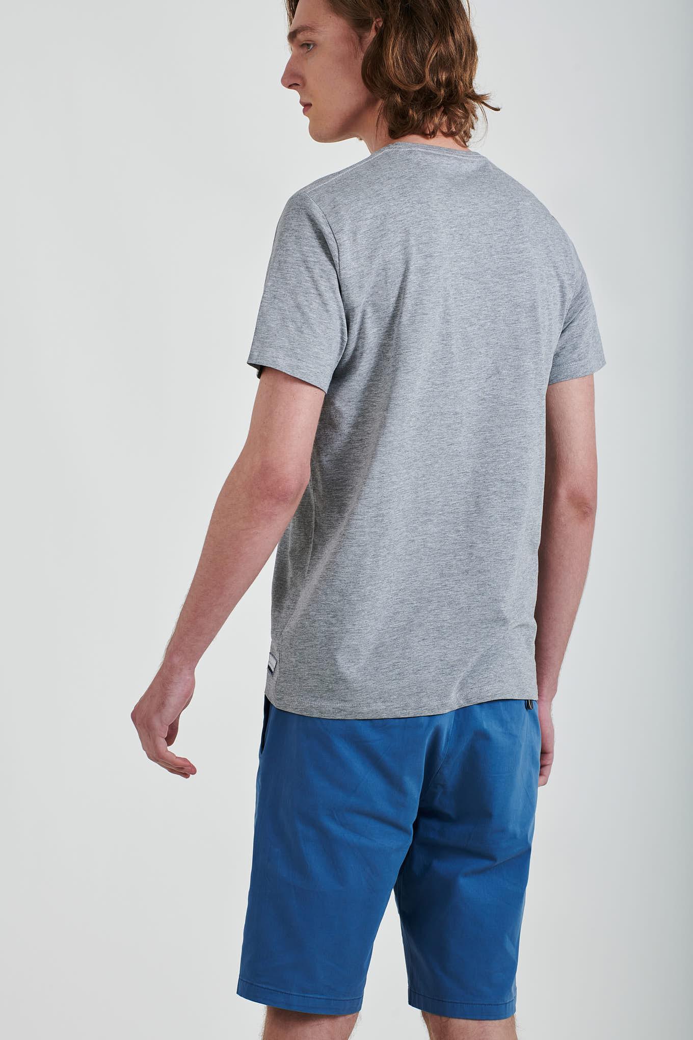 T-Shirt Cinza Claro Sport Homem