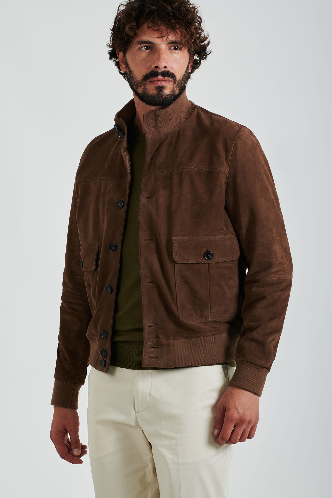 Leather Jacket Stone Casual Man