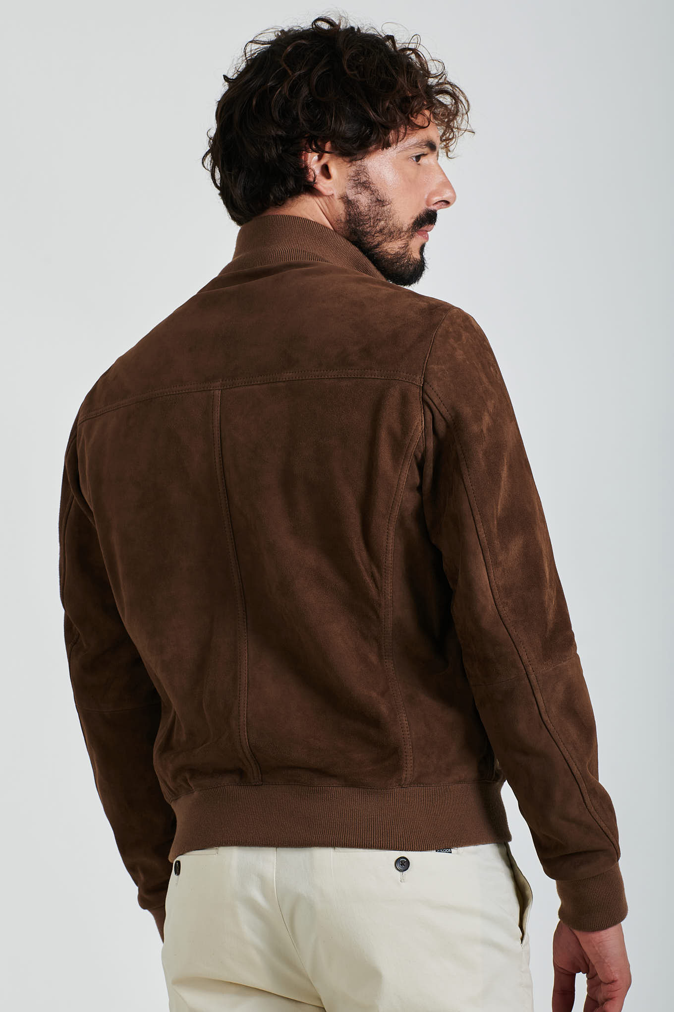 Leather Jacket Stone Casual Man