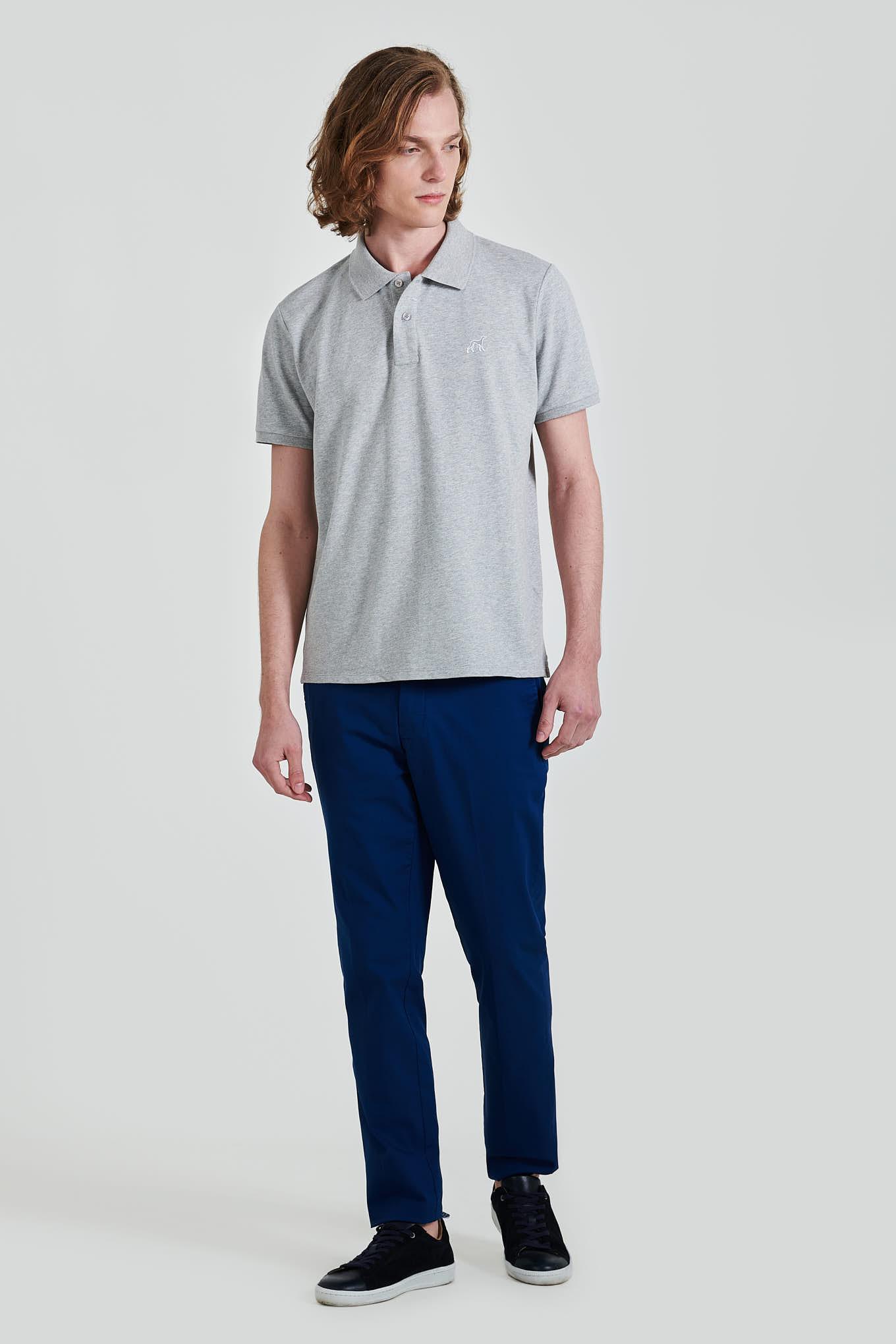 Calças Chino Azul Casual Homem