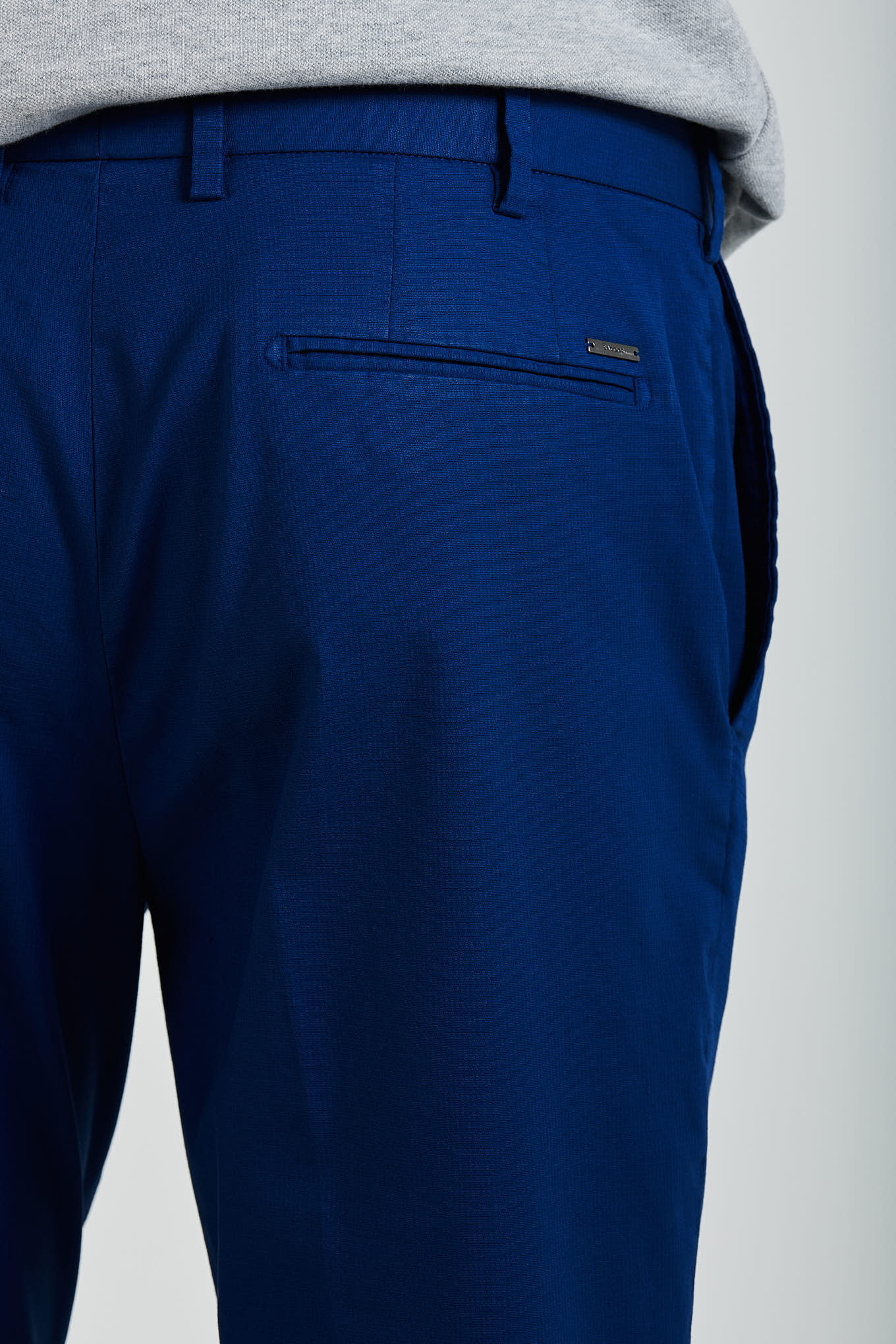 Chino Trousers Blue Casual Man