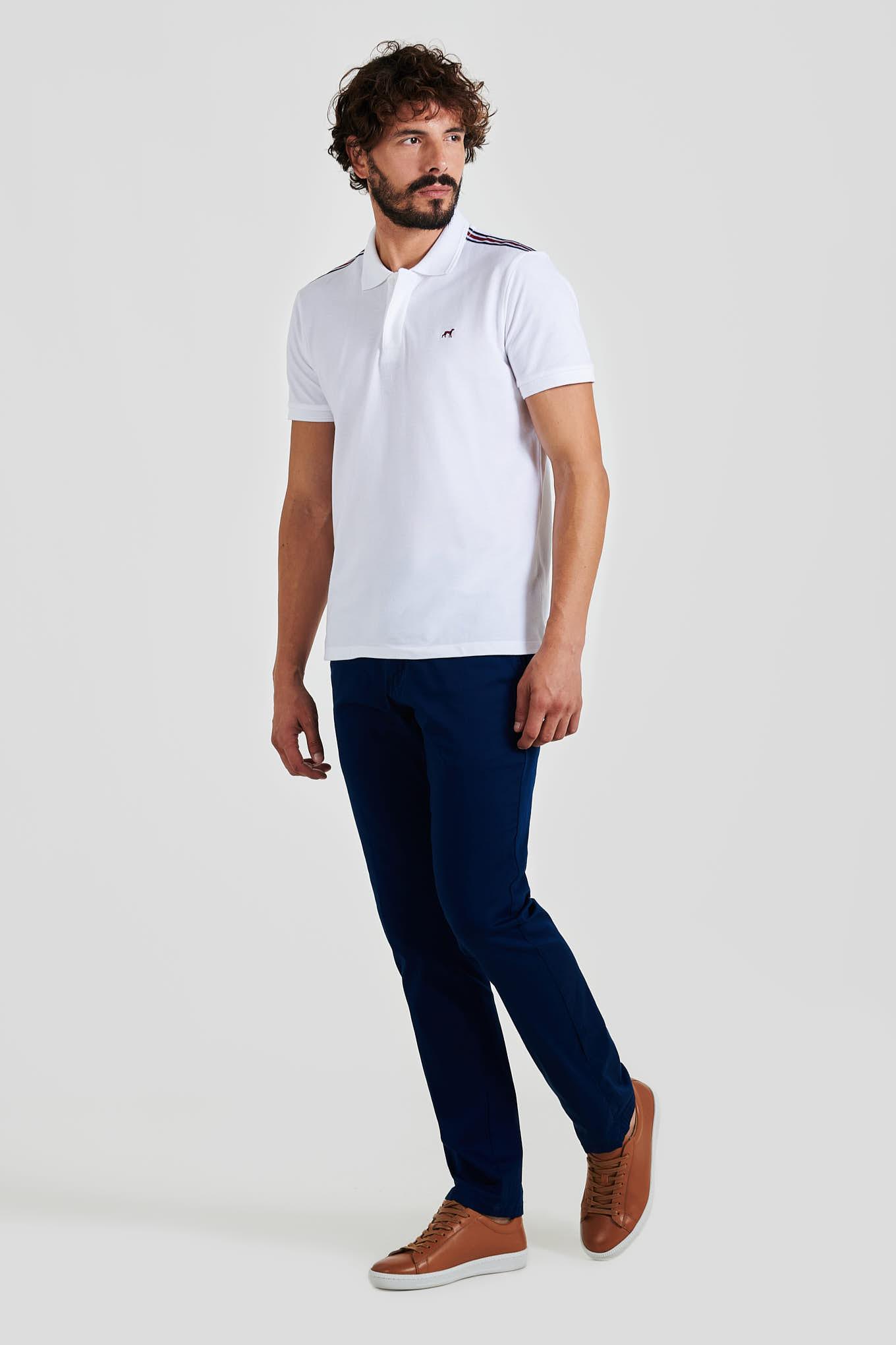 Polo Piquet White Casual Man
