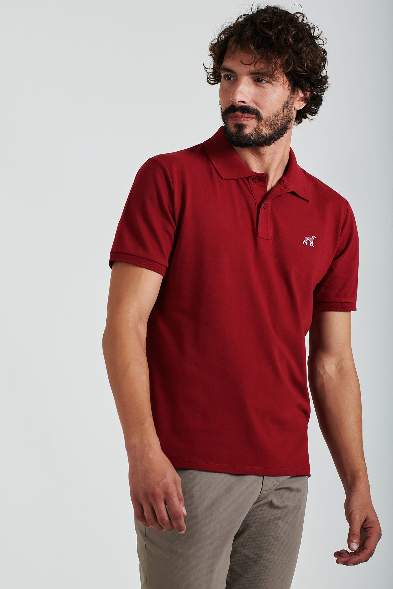 Polo Piquet Bordeaux Sport Man