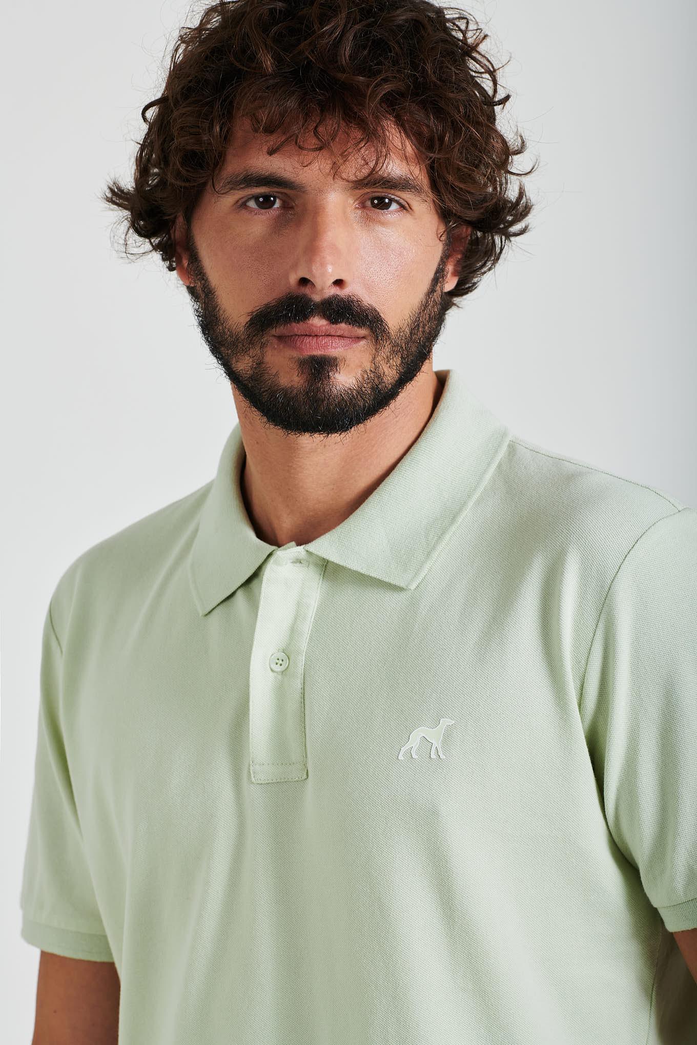 Polo Piquet Menta Sport Homem