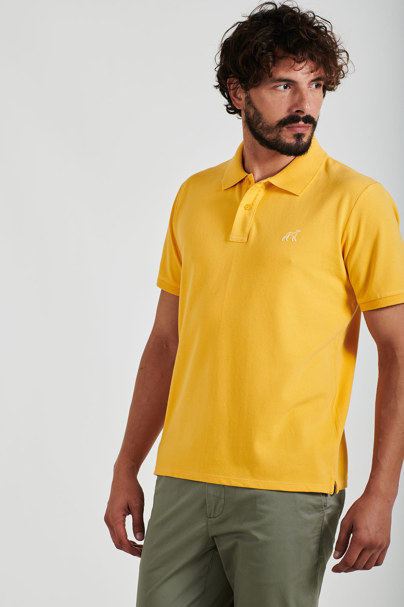 Polo Piquet Amarelo Sport Homem