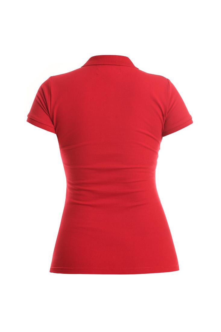 Polo Piquet Red Sport Woman