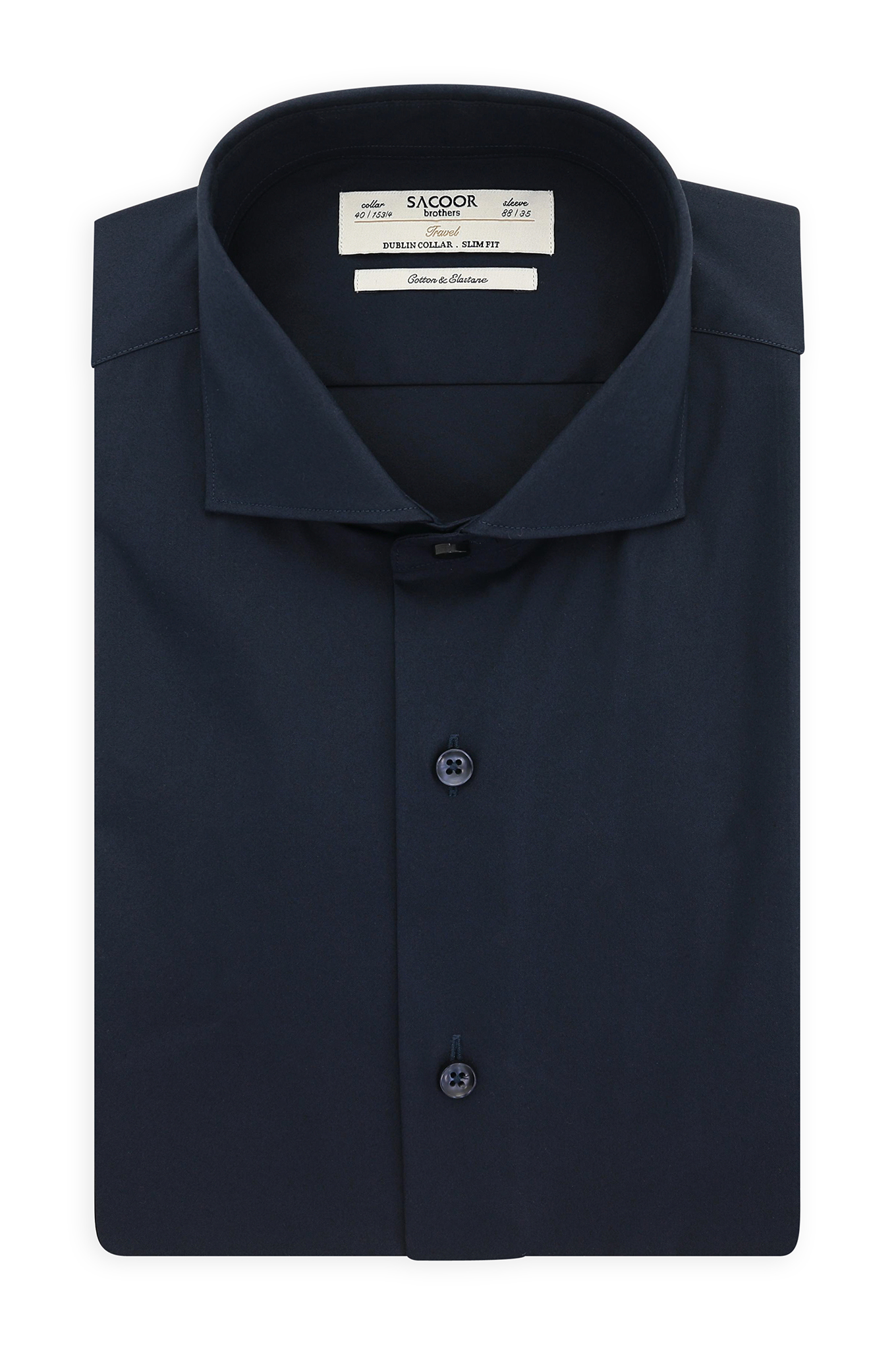 Shirt Dark Blue Classic Man