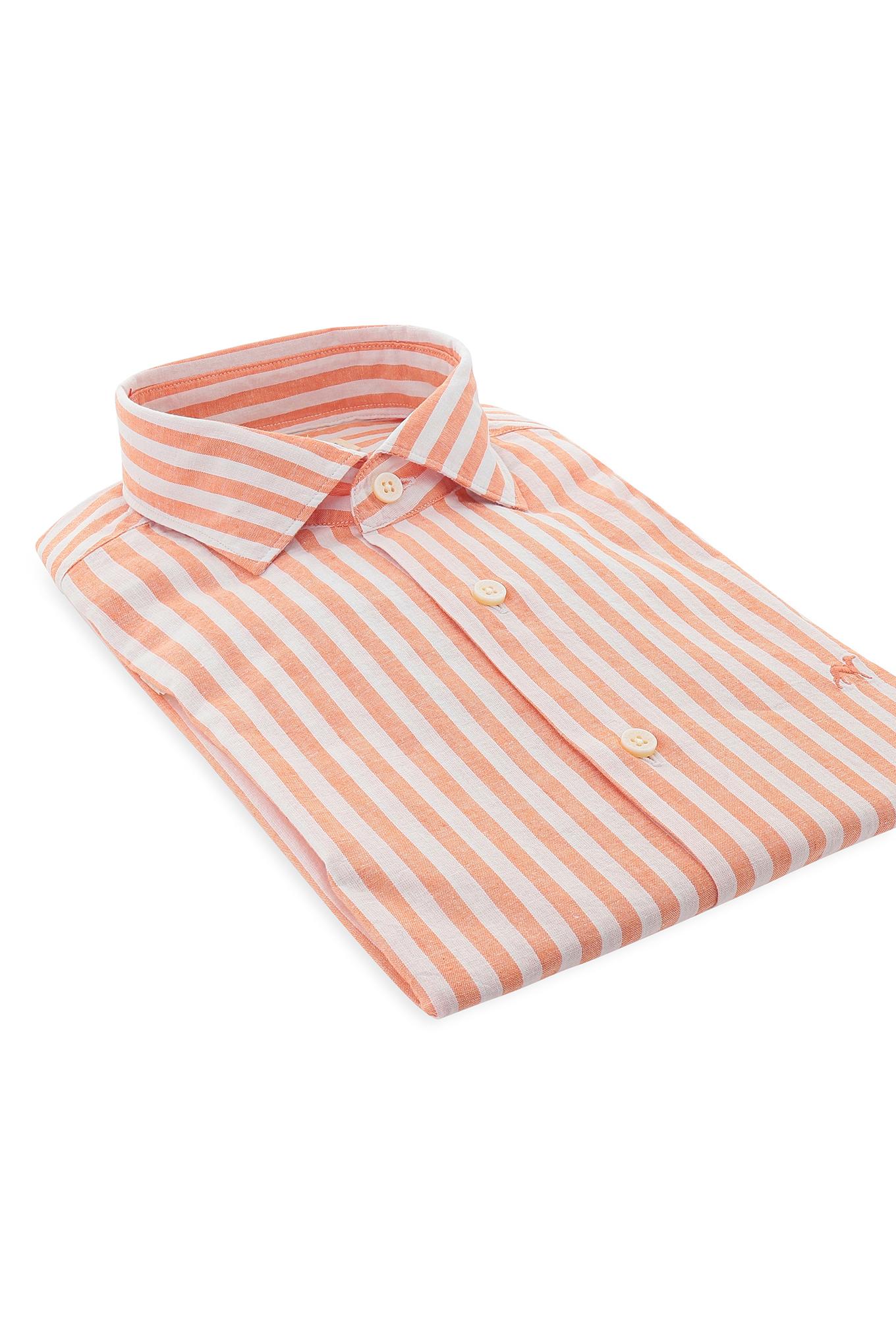 Camisa Laranja Casual Homem