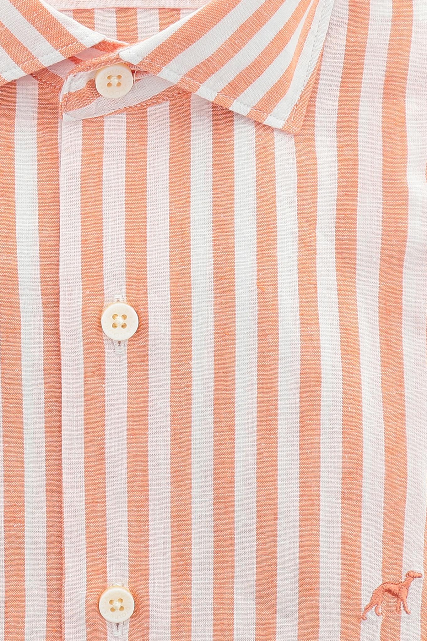 Shirt Orange Casual Man
