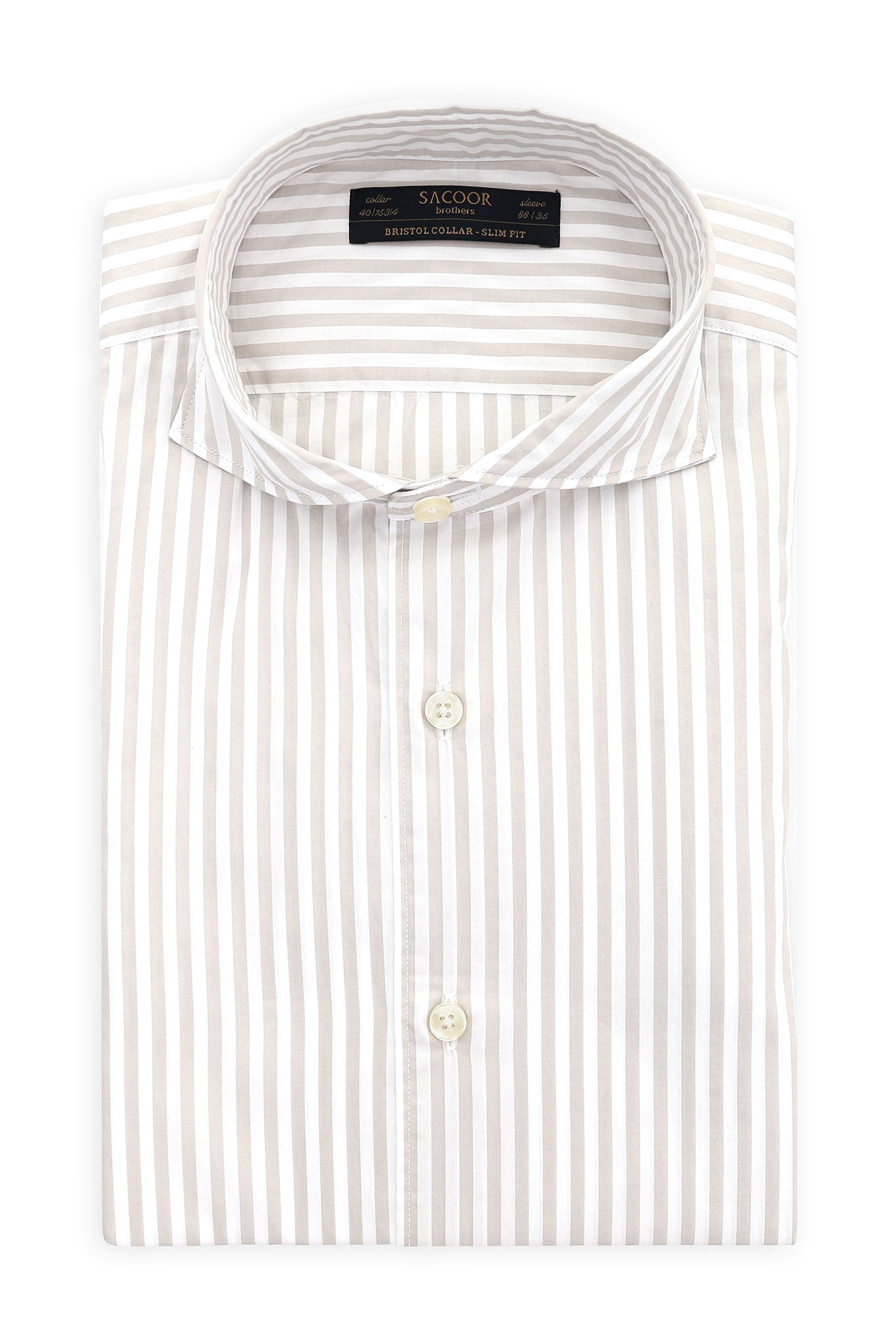 Shirt Beige Classic Man