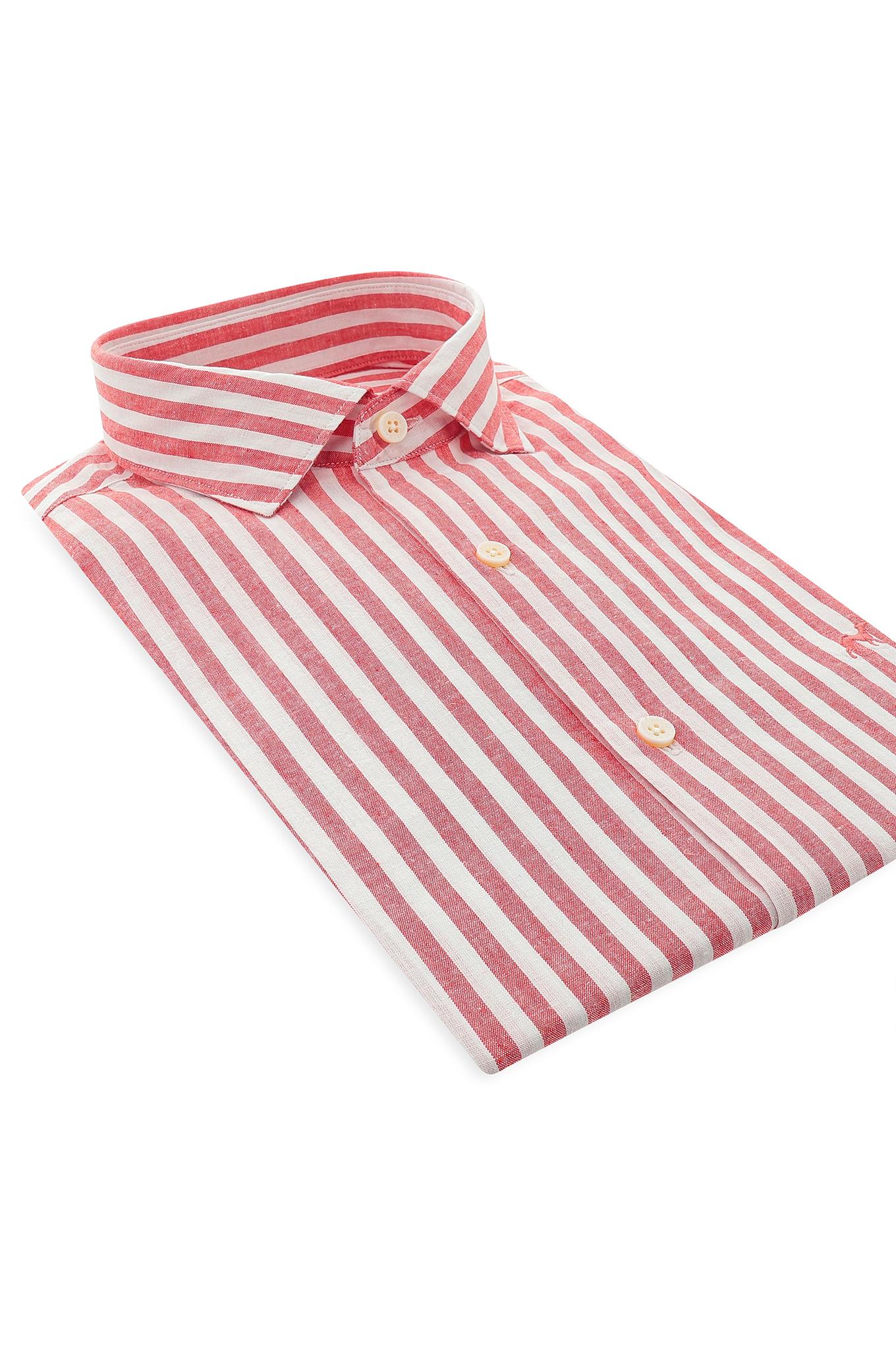Camisa Vermelho Casual Homem