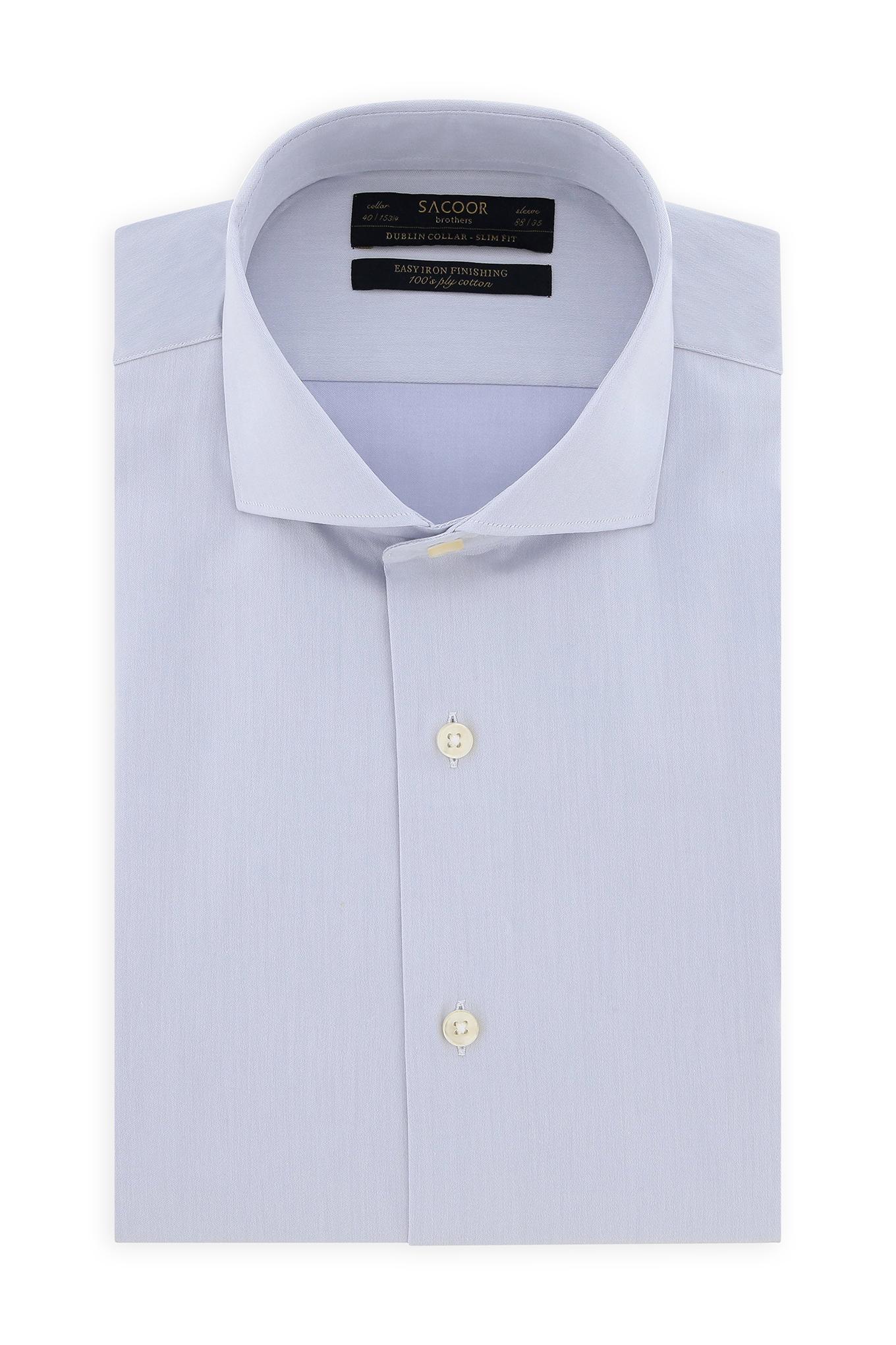 Camisa Cinza Claro Classic Homem