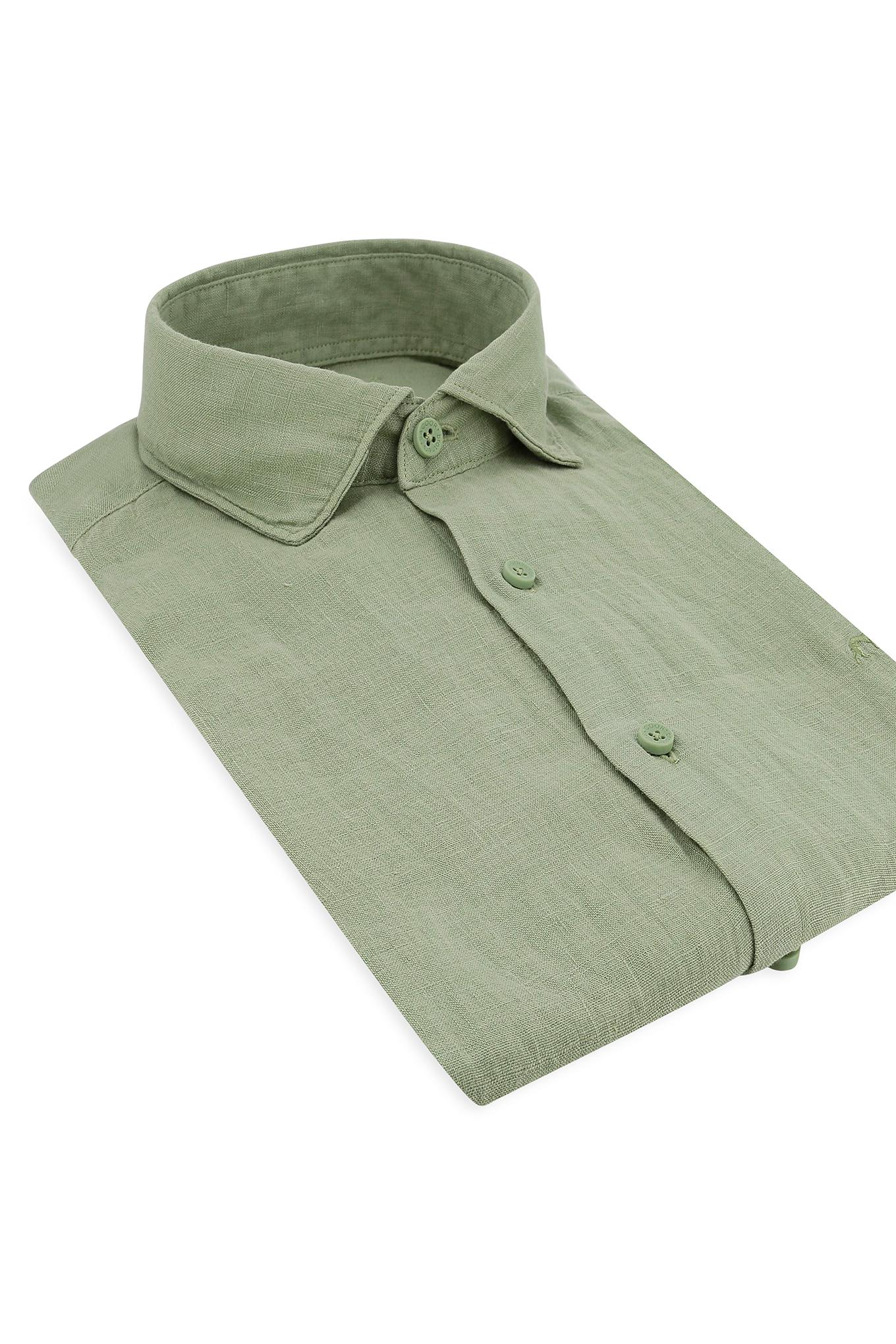 Camisa Verde Claro Casual Homem