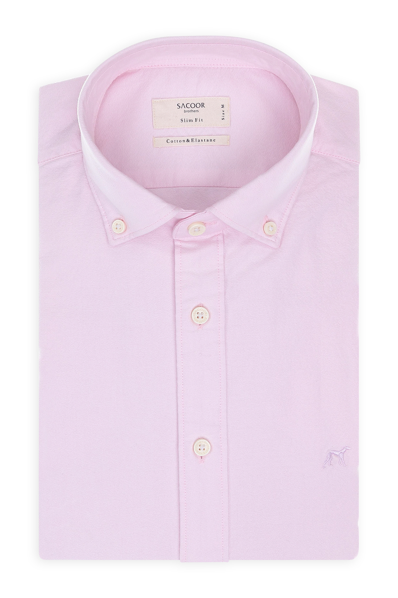 Camisa Rosa Claro Sport Homem