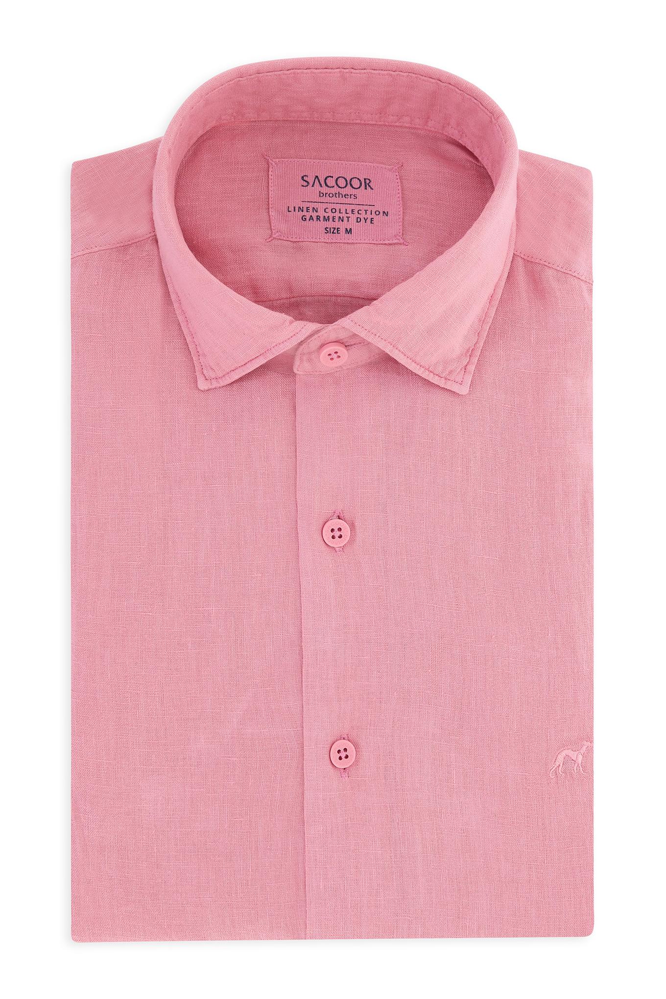 Camisa Rosa Casual Homem