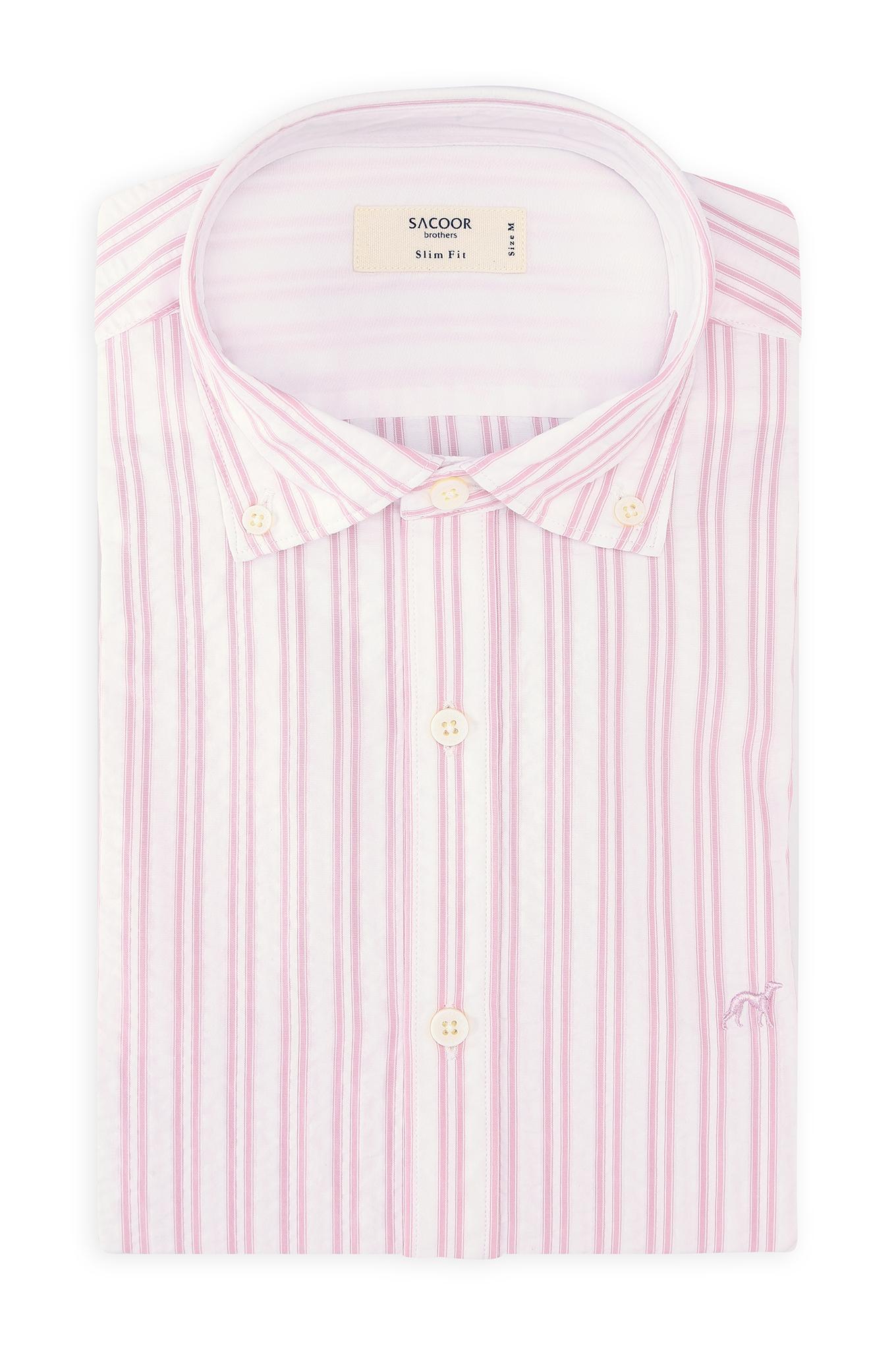 Shirt Pink Casual Man