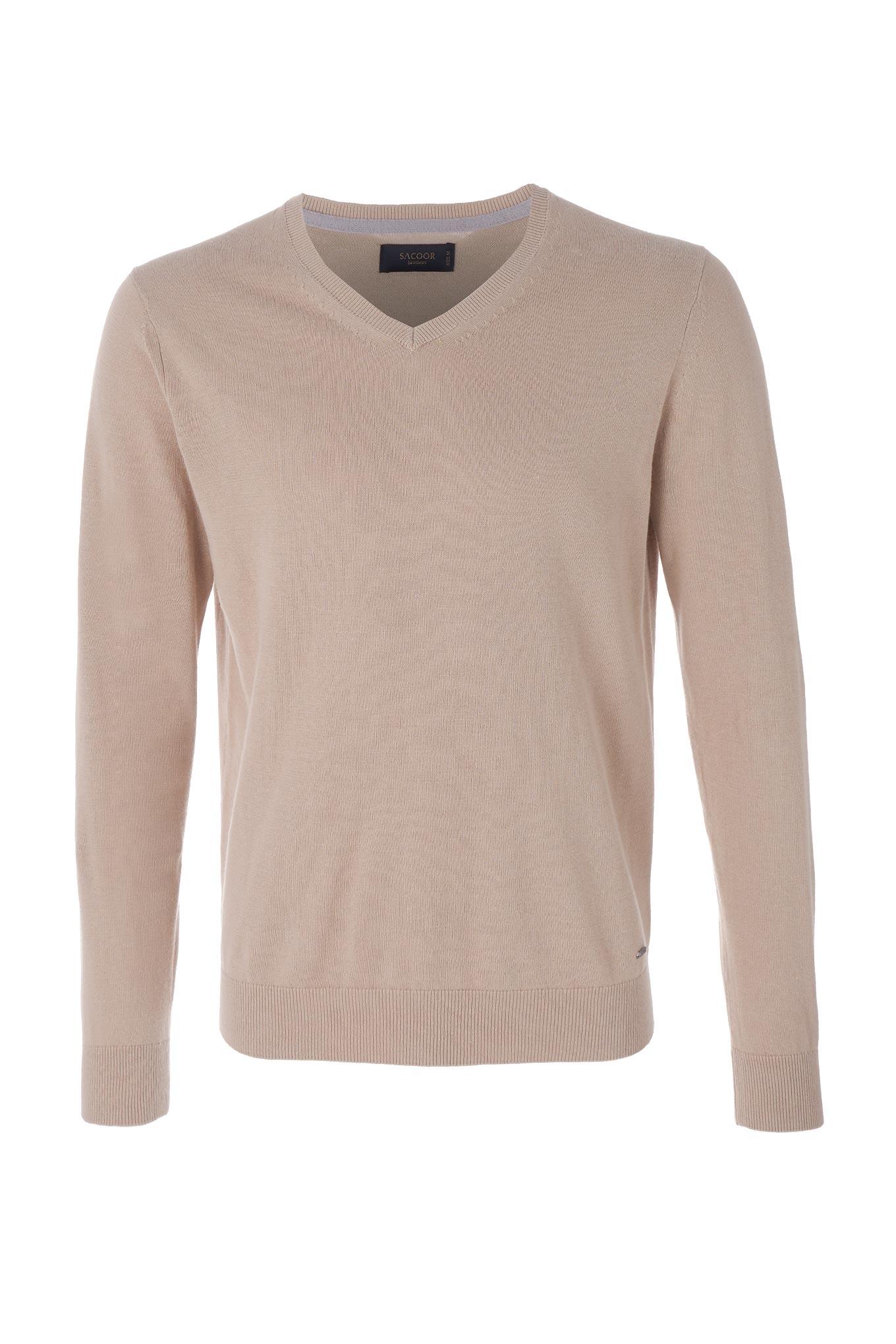 Sweater Beige Casual Man