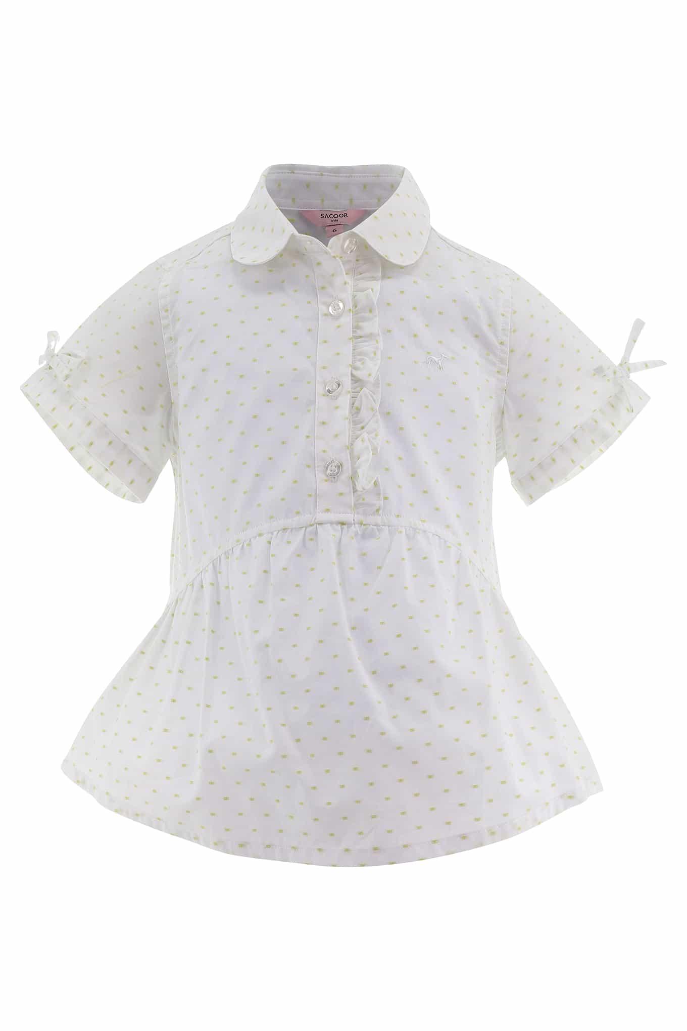 Camisa Branco Casual Rapariga