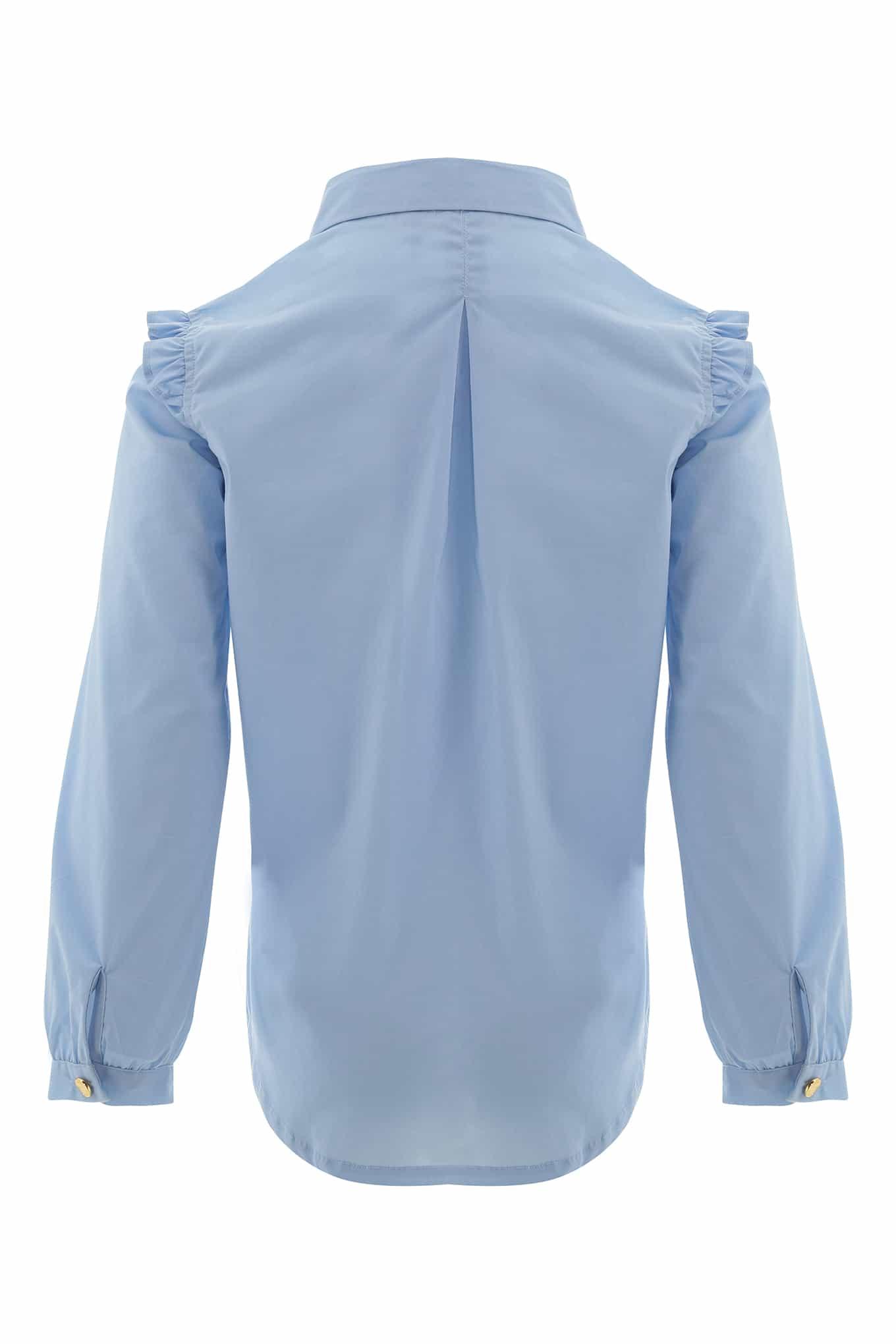 Camisa Azul Claro Casual Rapariga
