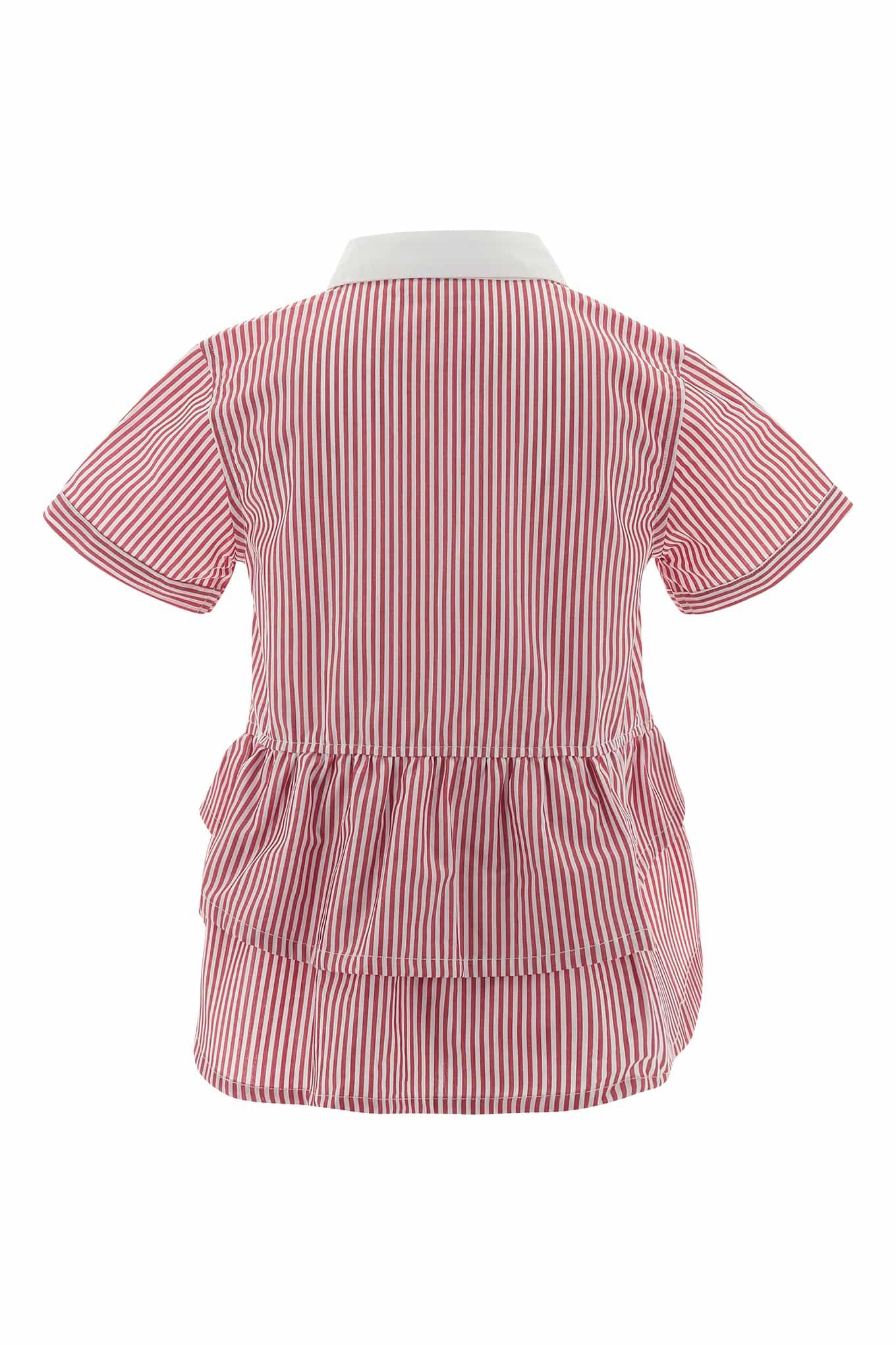 Camisa Vermelho Casual Rapariga
