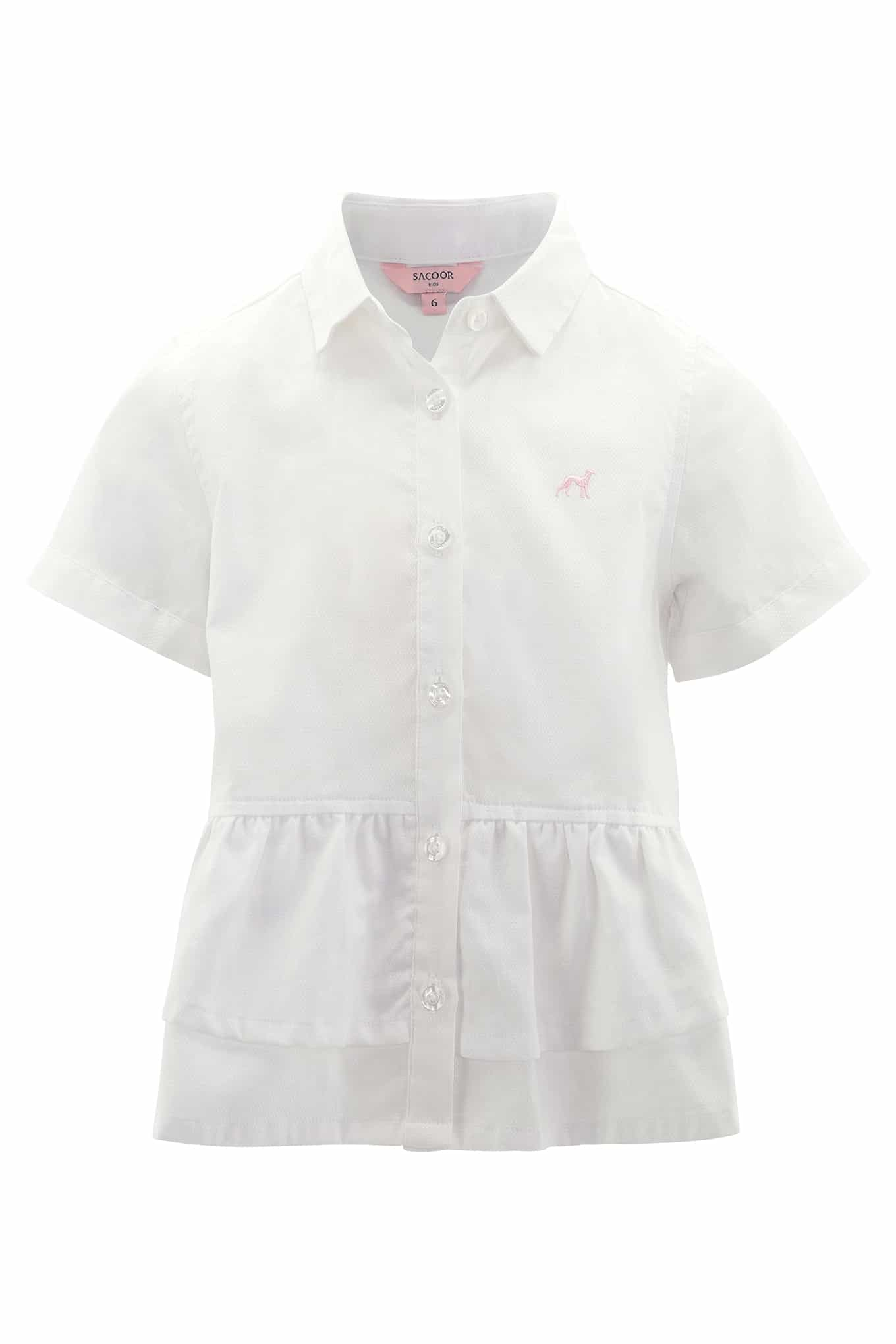 Shirt White Casual Girl