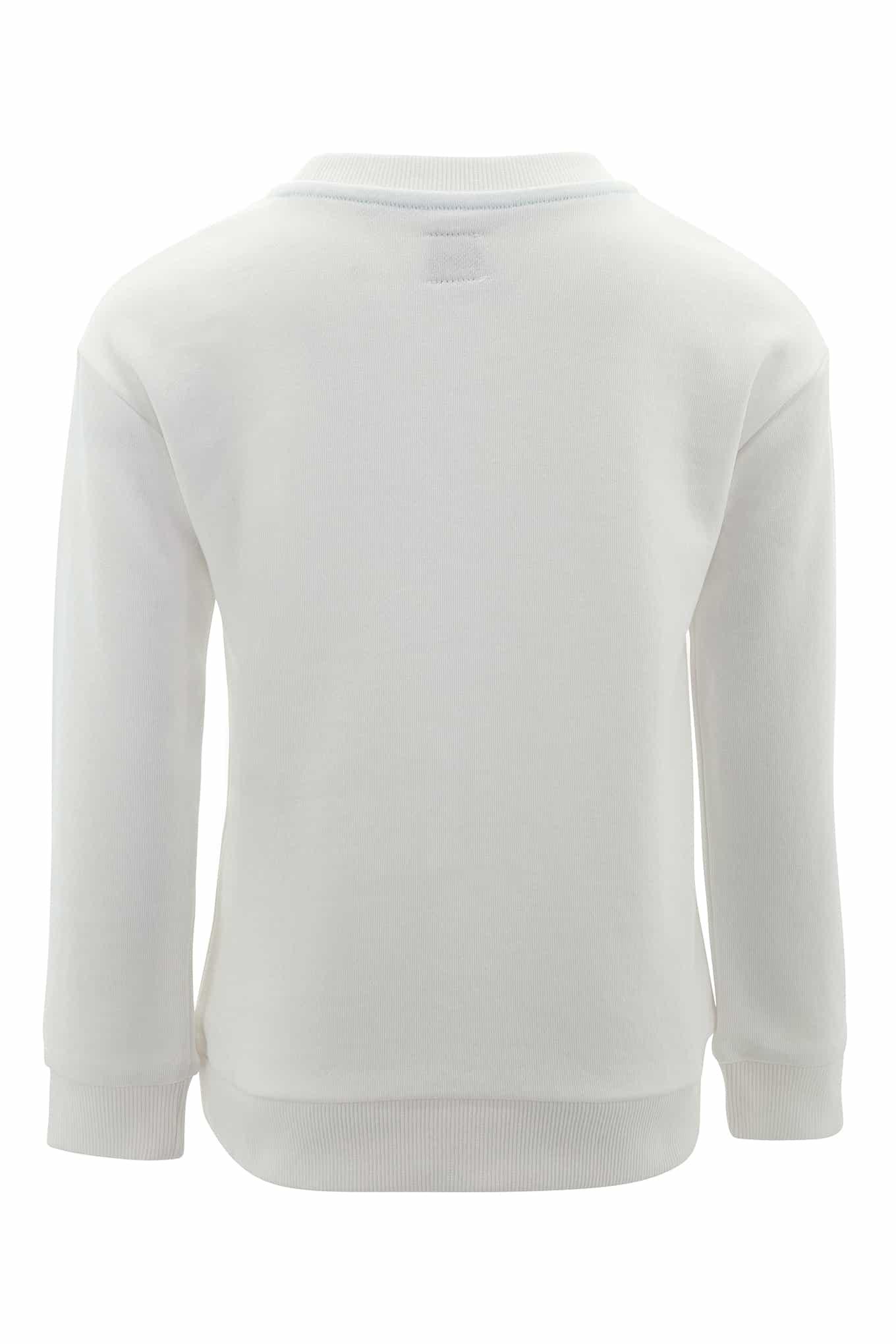 Sweatshirt White Casual Girl