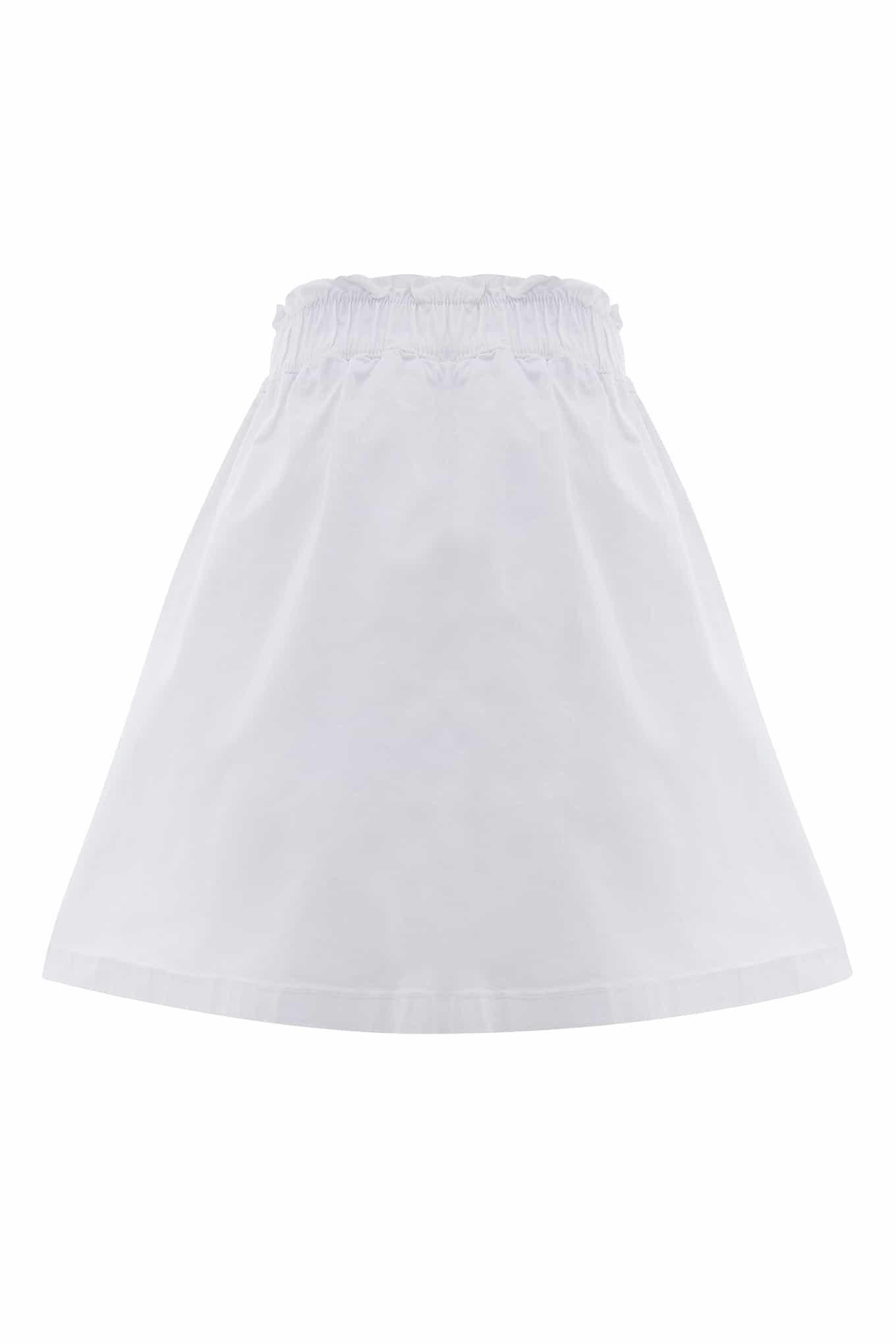 Saia Branco Casual Rapariga