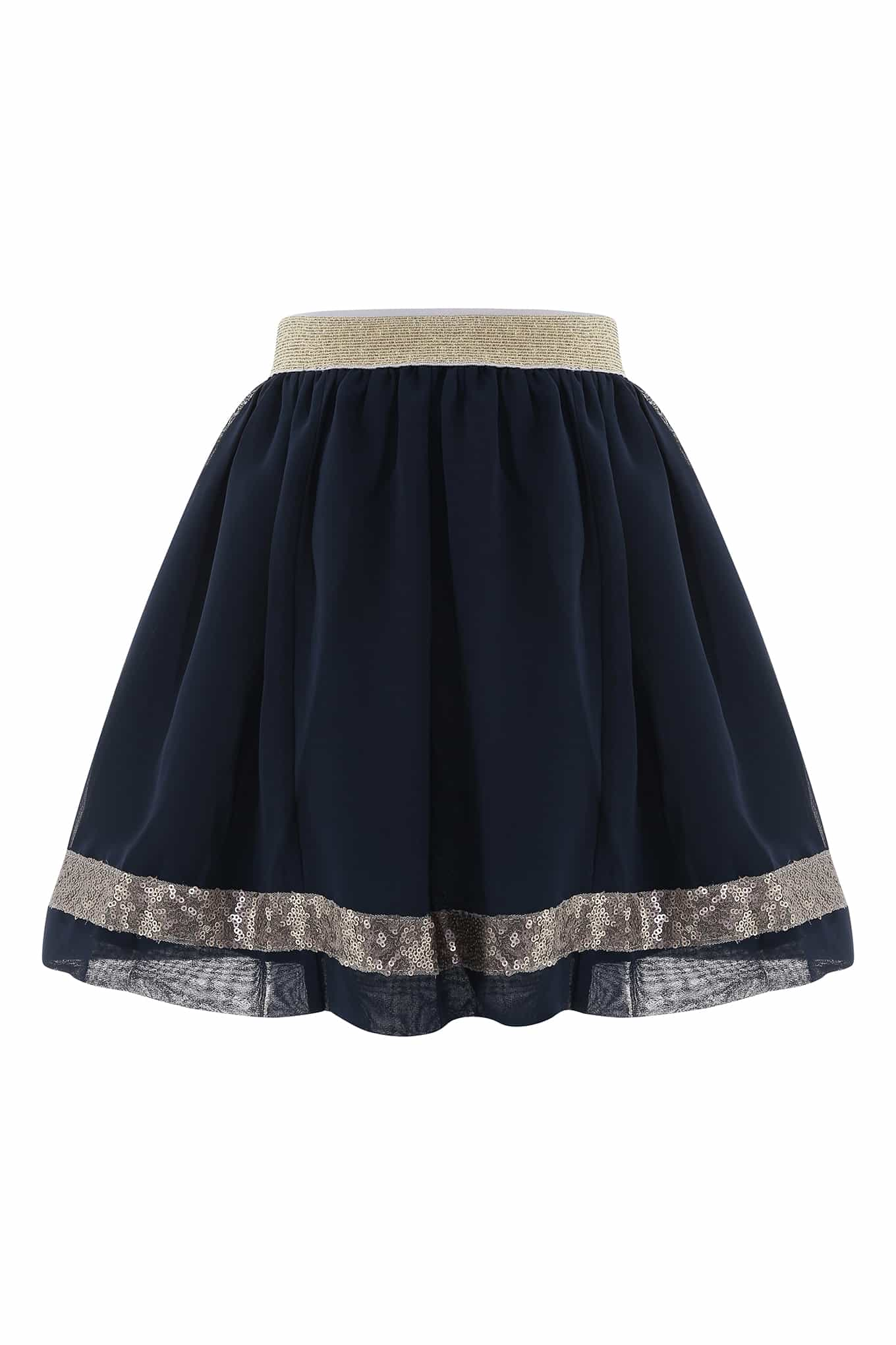Skirt Dark Blue Casual Girl