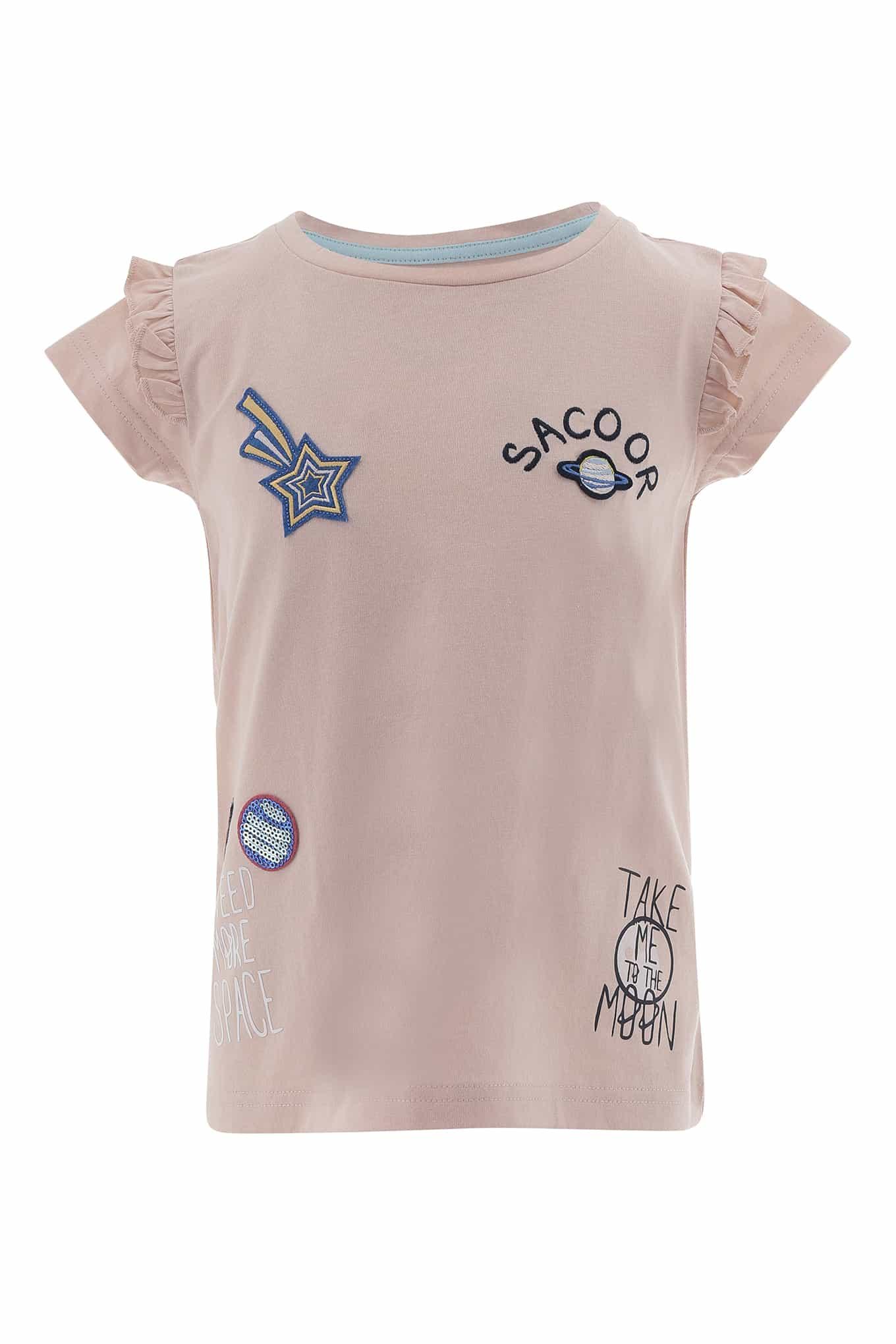 T-Shirt Rosa Claro Sport Rapariga