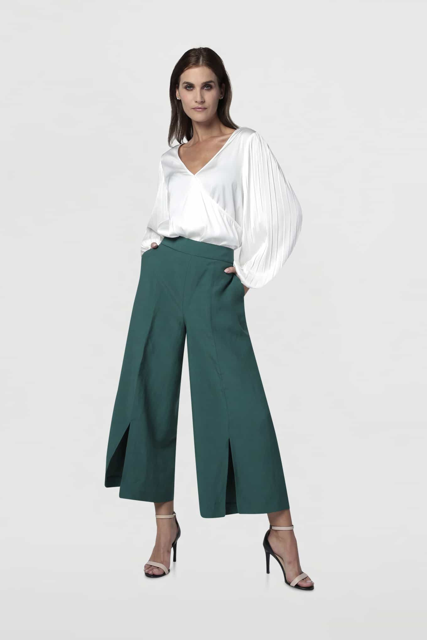 Trousers Dark Green Classic Woman