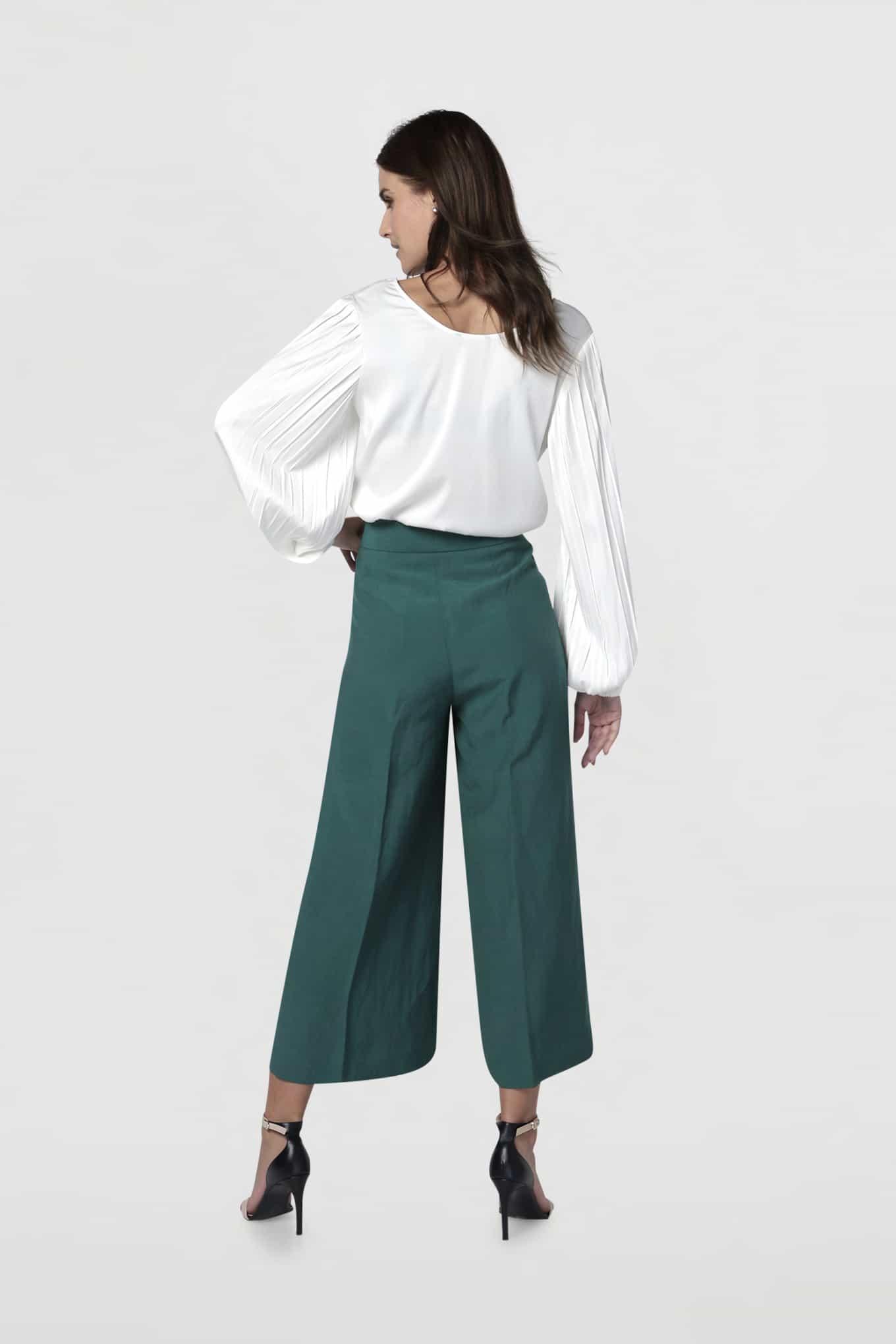 Trousers Dark Green Classic Woman