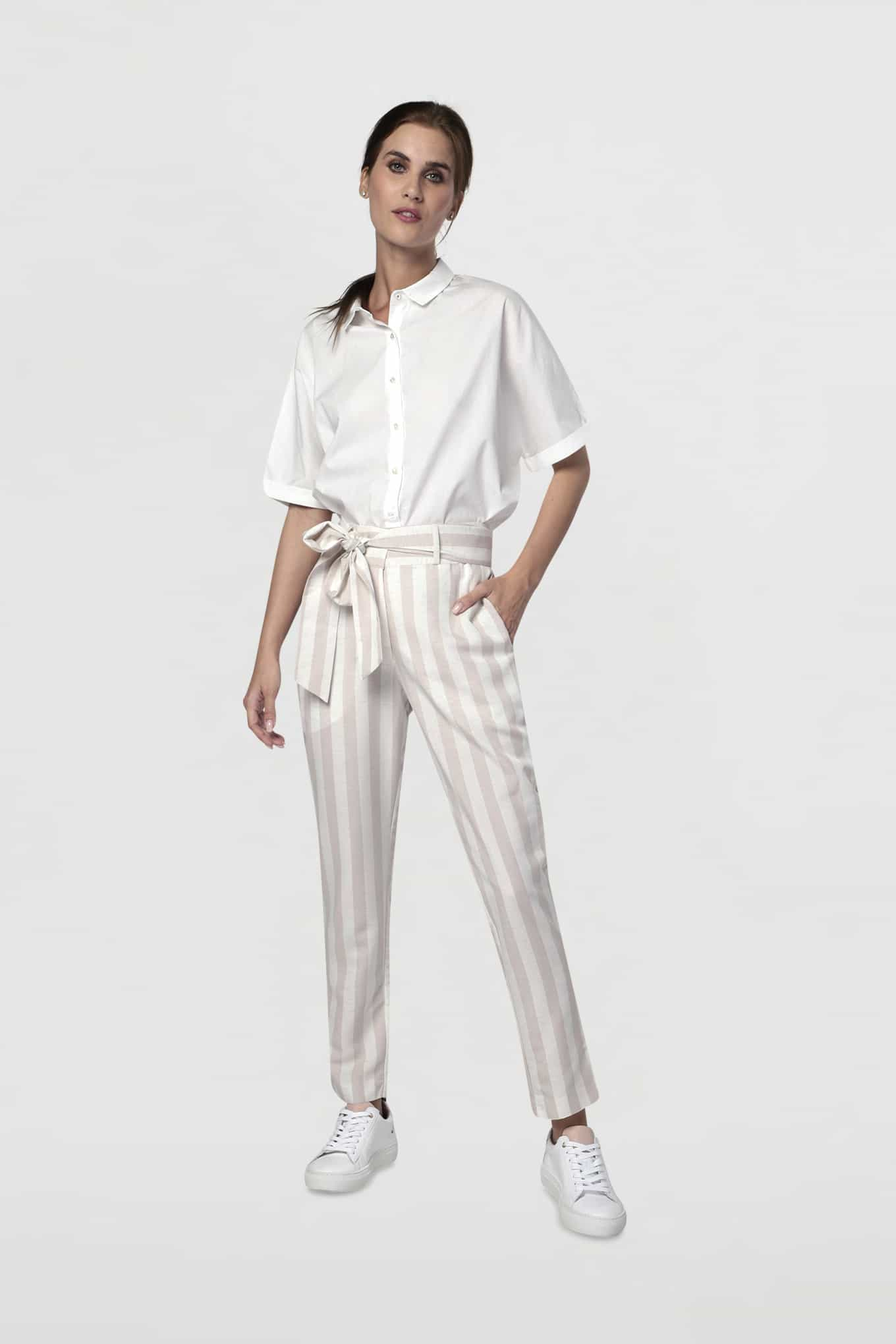 Trousers Light Beige Fantasy Woman