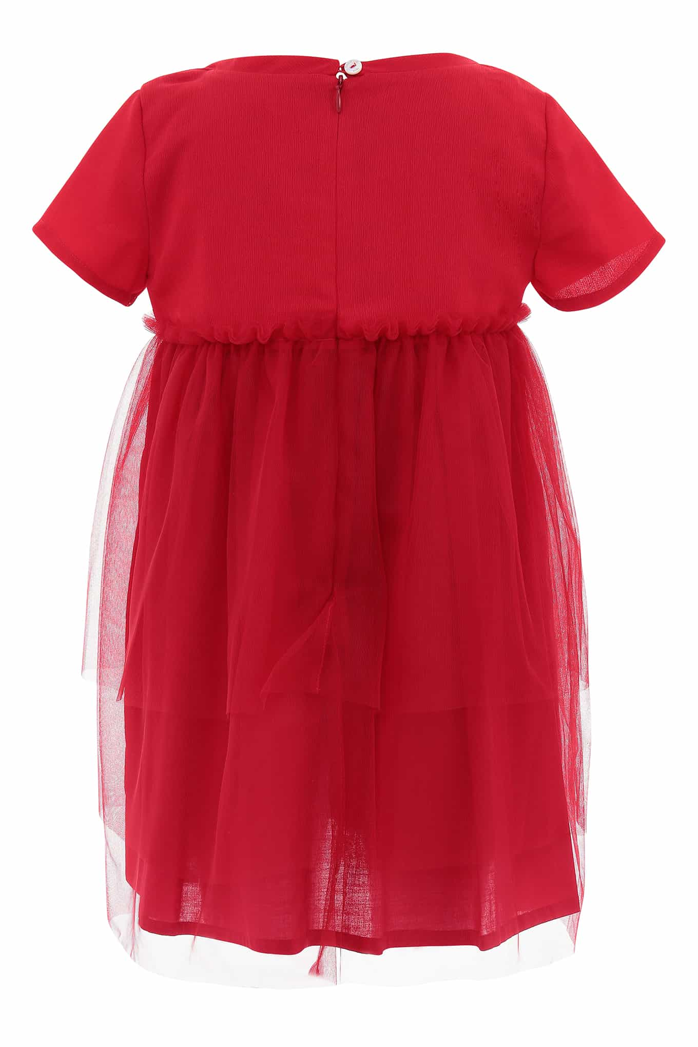 Dress Red Casual Girl