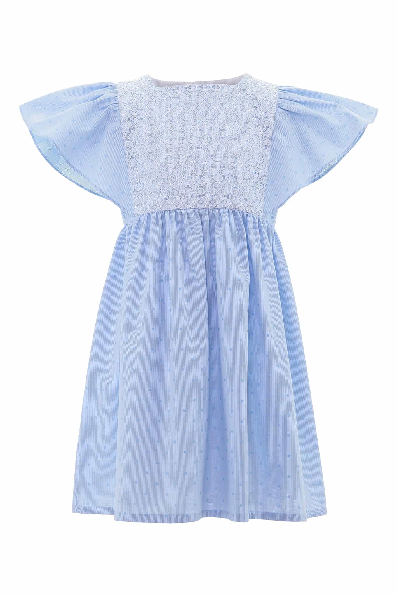 Vestido Azul Claro Casual Rapariga