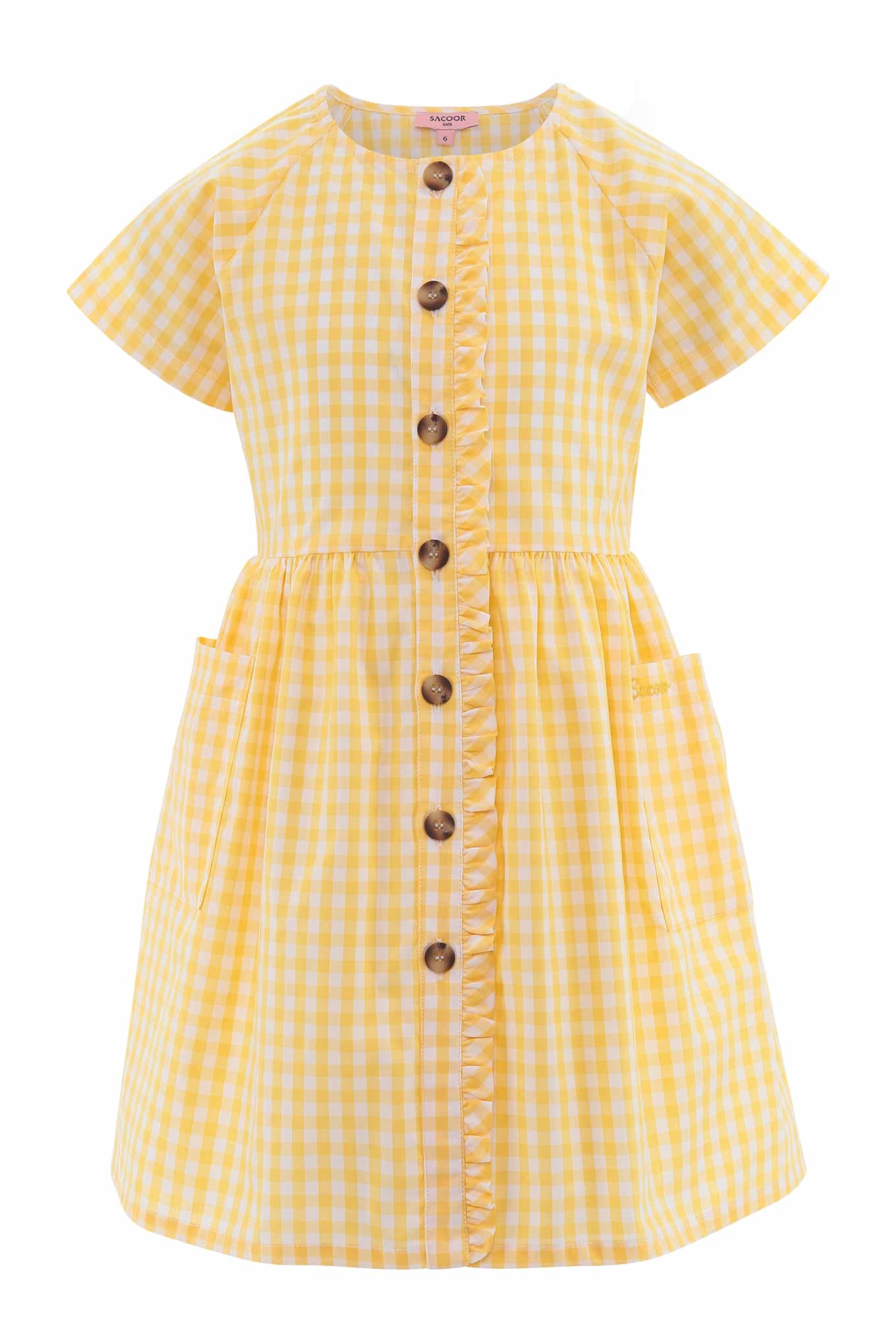 Vestido Amarelo Claro Casual Rapariga