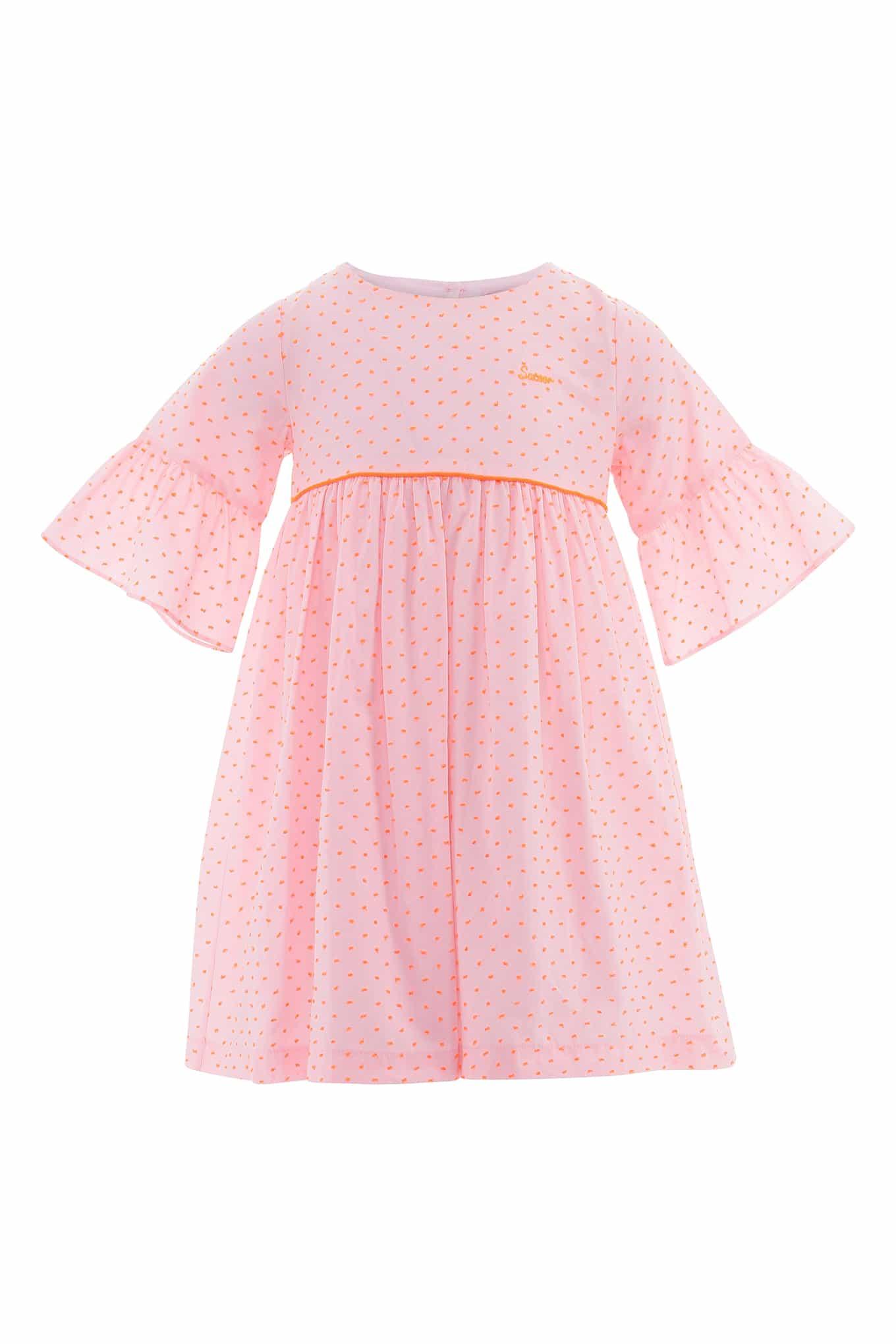 Vestido Rosa Claro Casual Rapariga