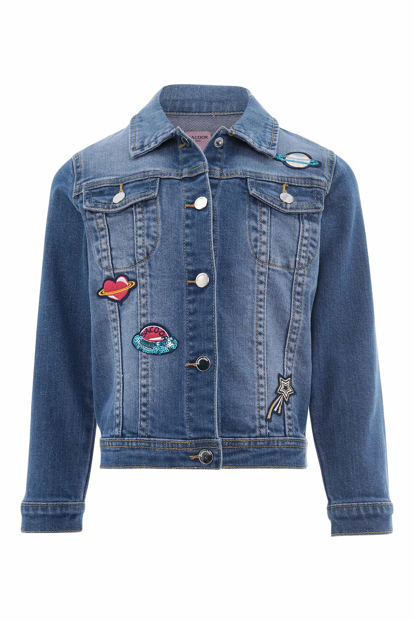 Denim Jacket Light Blue Casual Girl