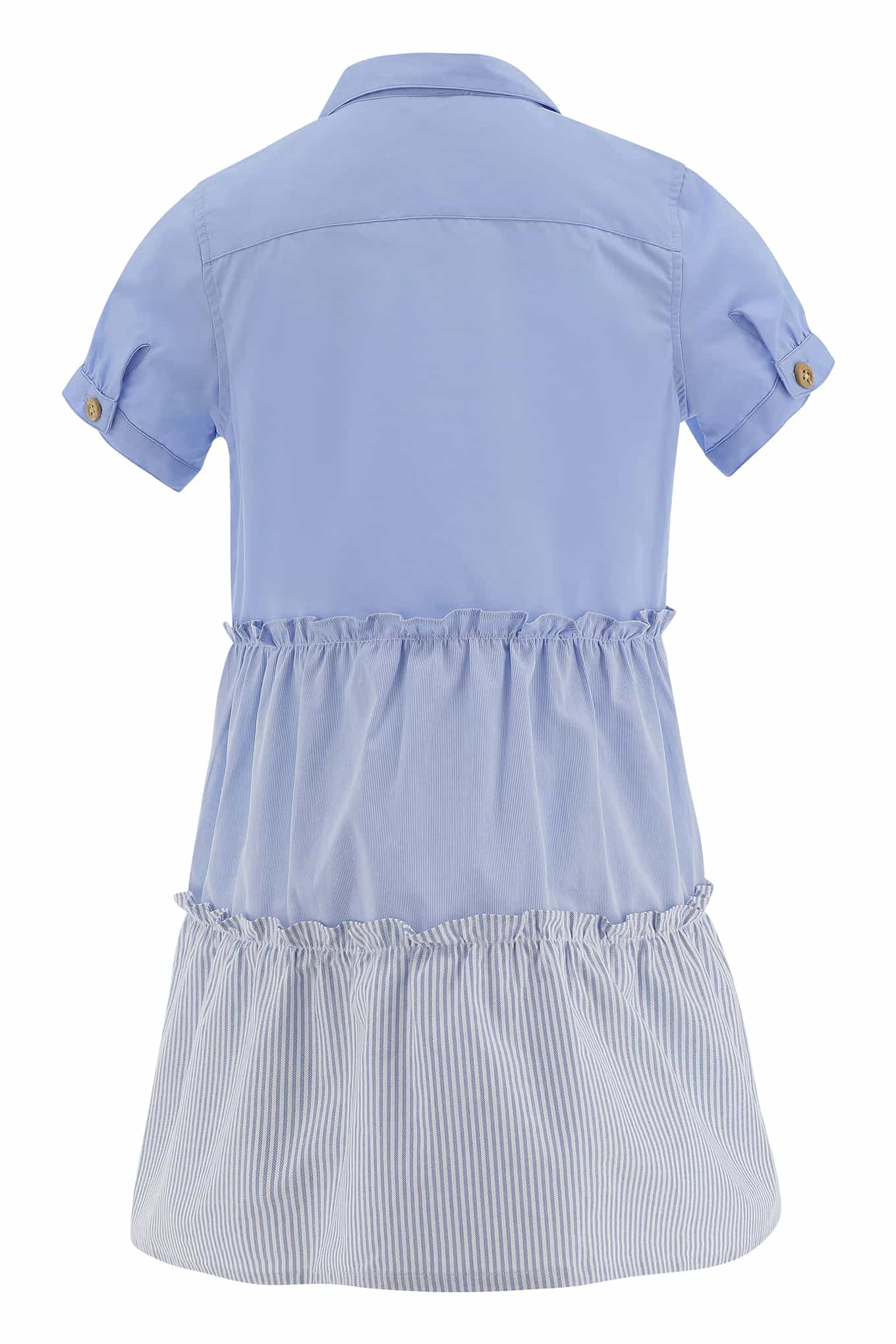 Shirt Dress Light Blue Casual Girl