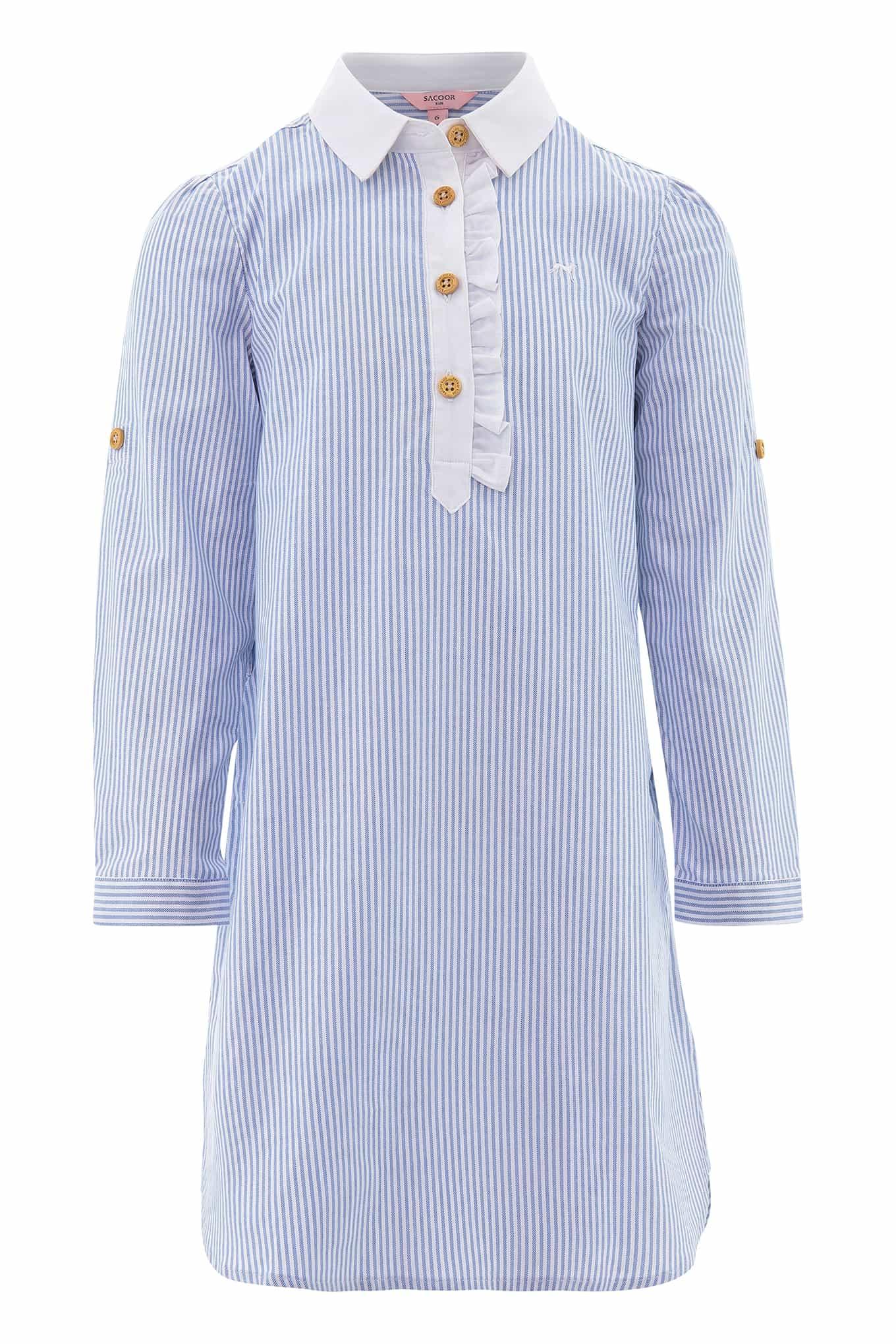 Shirt Dress Light Blue Casual Girl