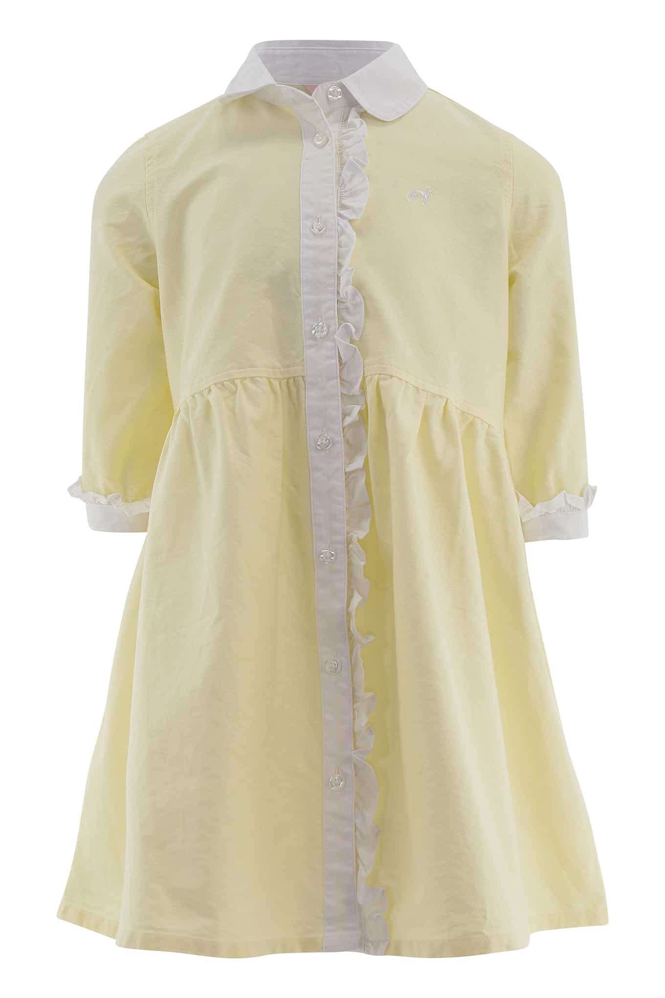 Shirt Dress Light Yellow Casual Girl